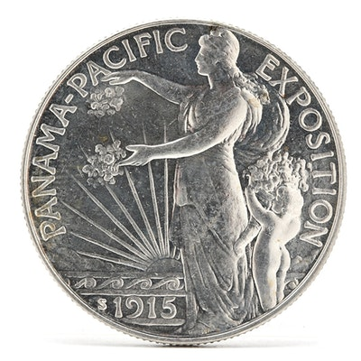 1915-S Panama Pacific Exposition Half Dollar Silver Commemorative