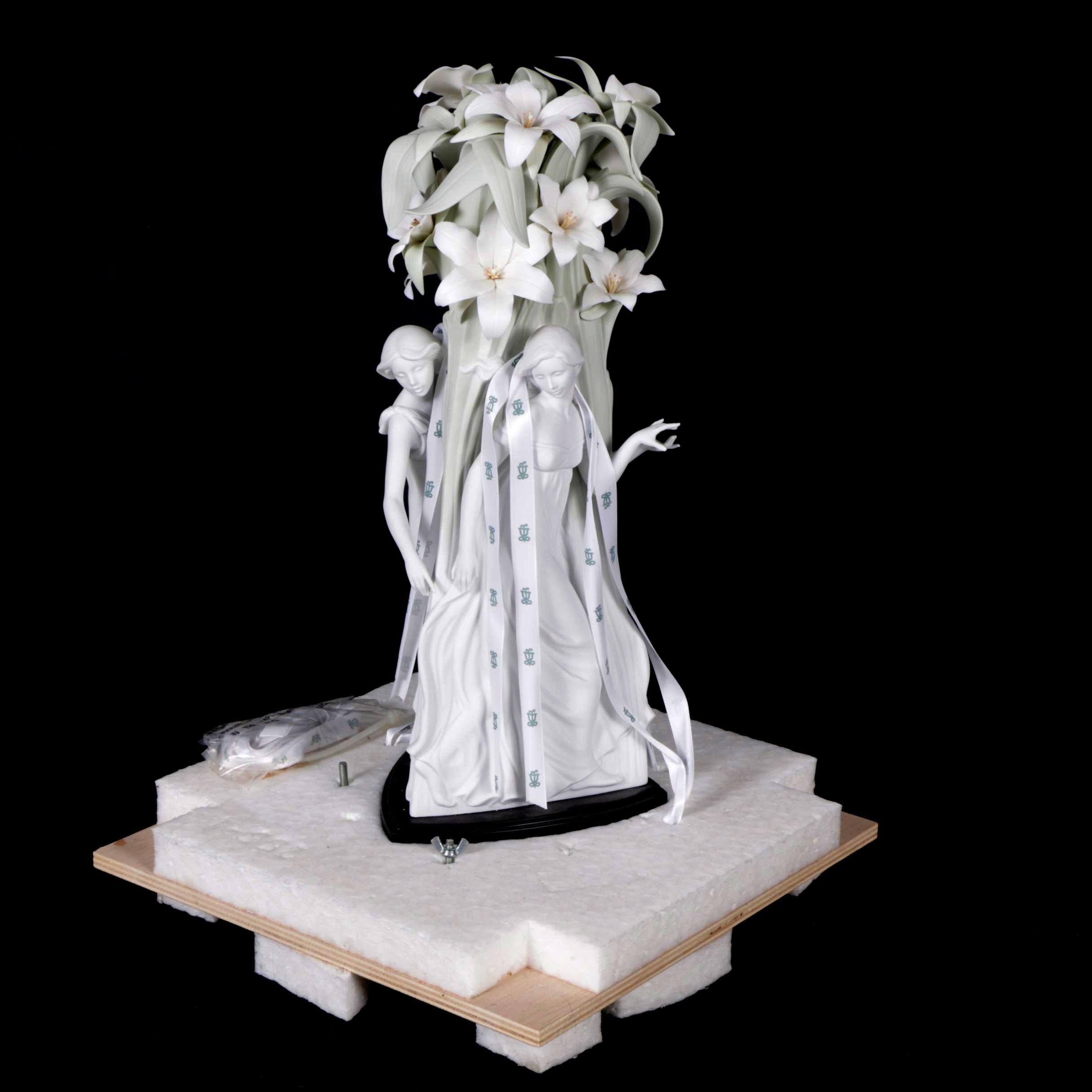 "Limited Edition Lladró ""Joyful Nymphs"" High Porcelain Figurine"