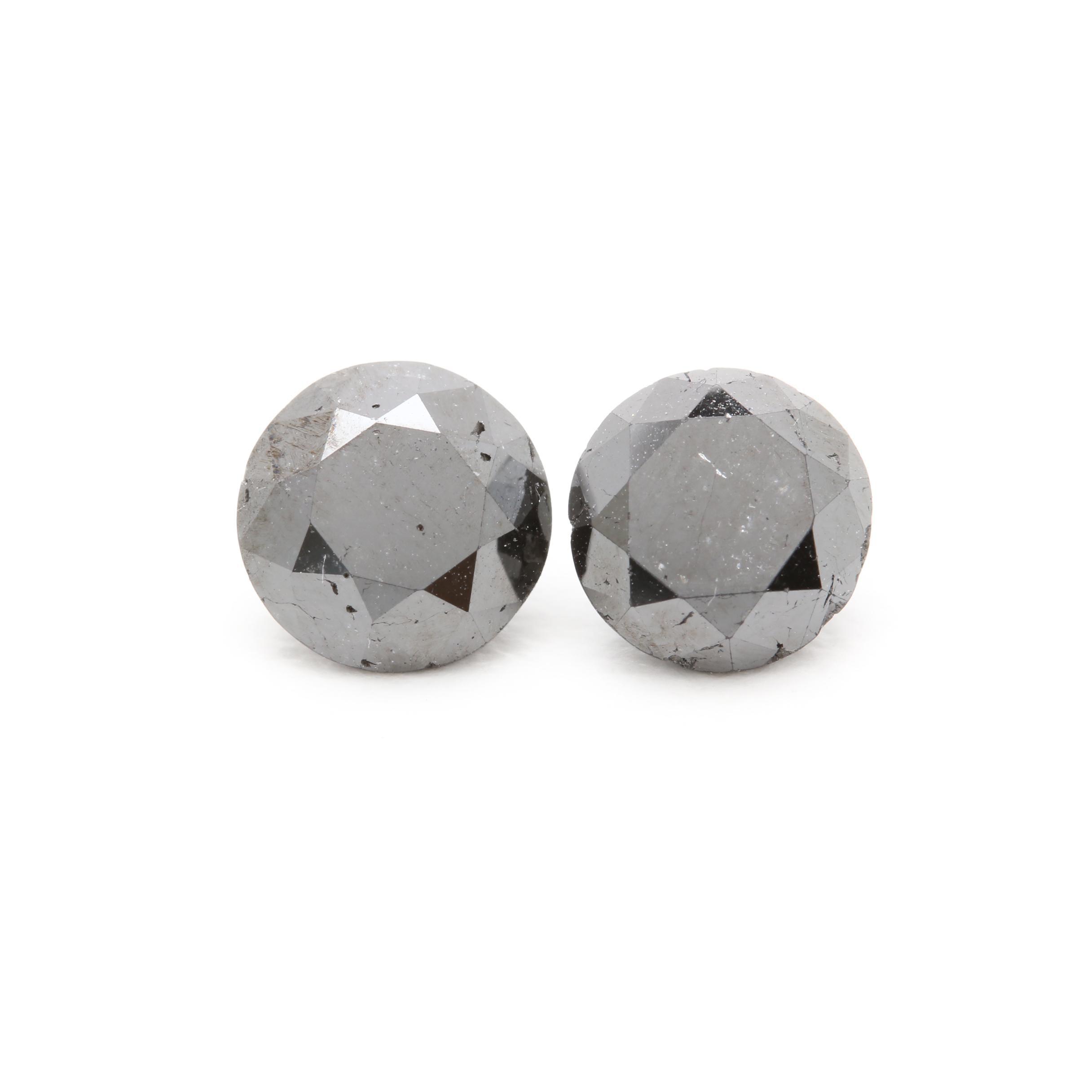 Two Loose 2.35 CTW Black Diamonds