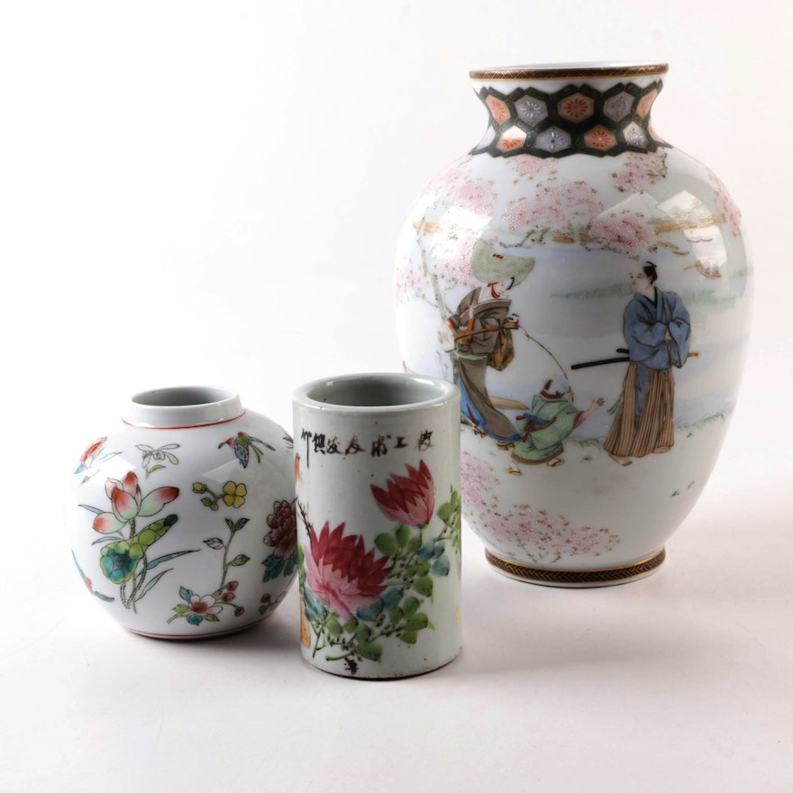 Chinese Hand-Painted Porcelain Vases