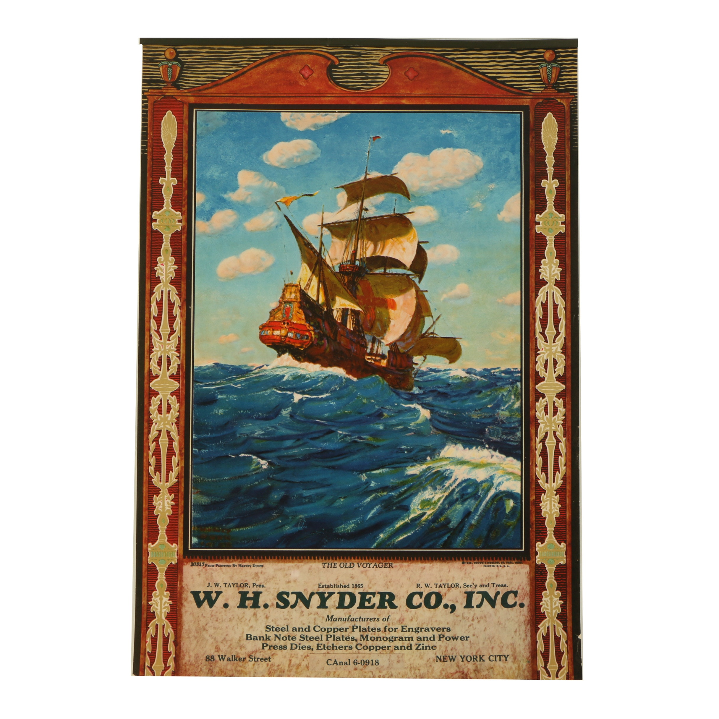"Offset Lithograph After Harvey Dunn ""The Old Voyager"""