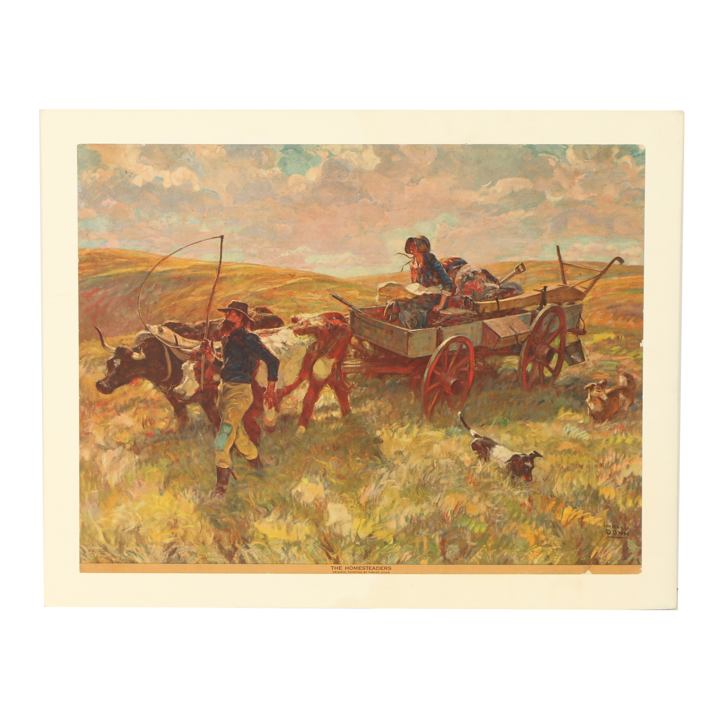 "Offset Lithograph After Harvey Dunn ""The Homesteaders"""