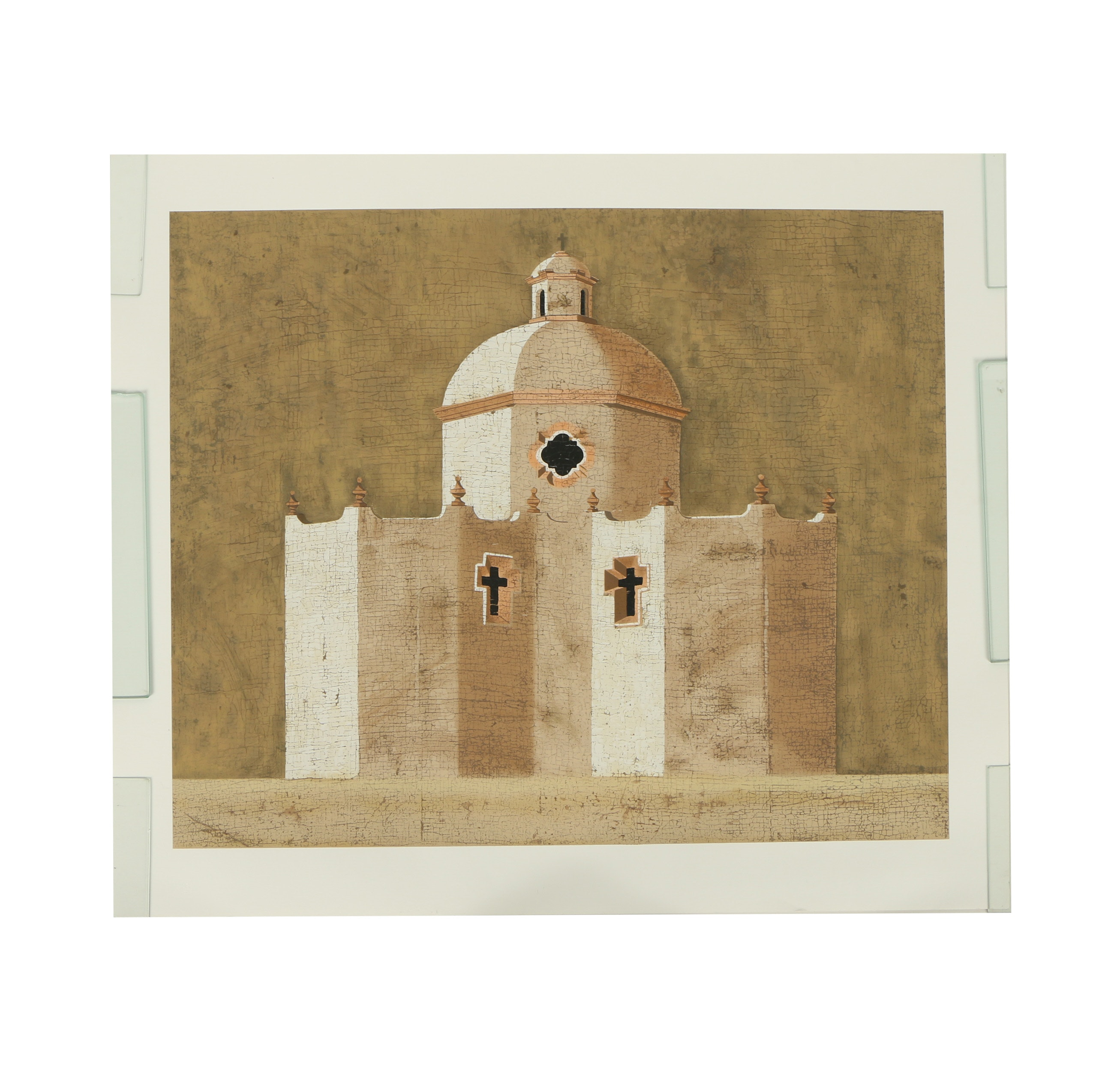 "Jacques Lamy Serigraph ""Untitled (Church)"""