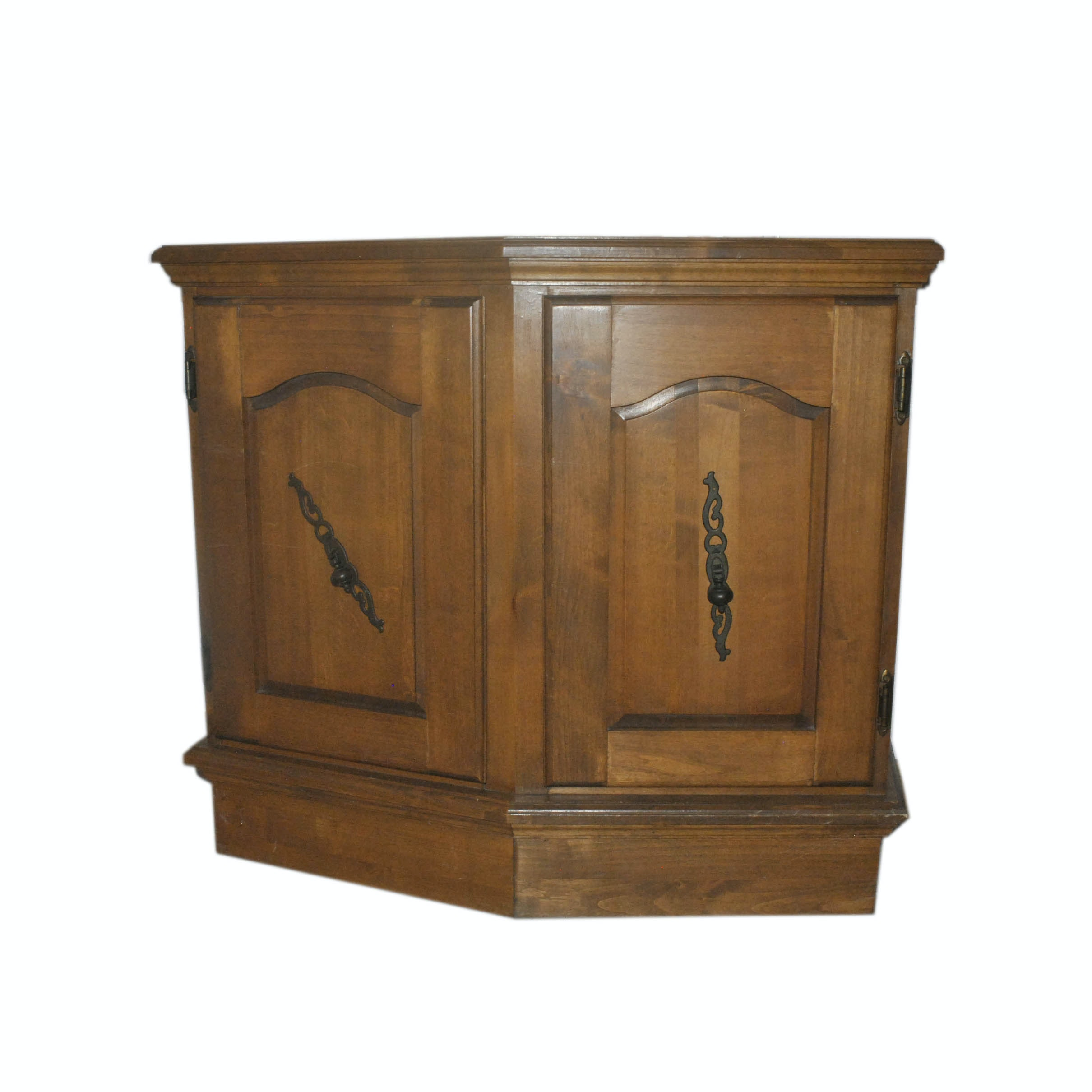 Colonial Style Entryway Storage Cabinet