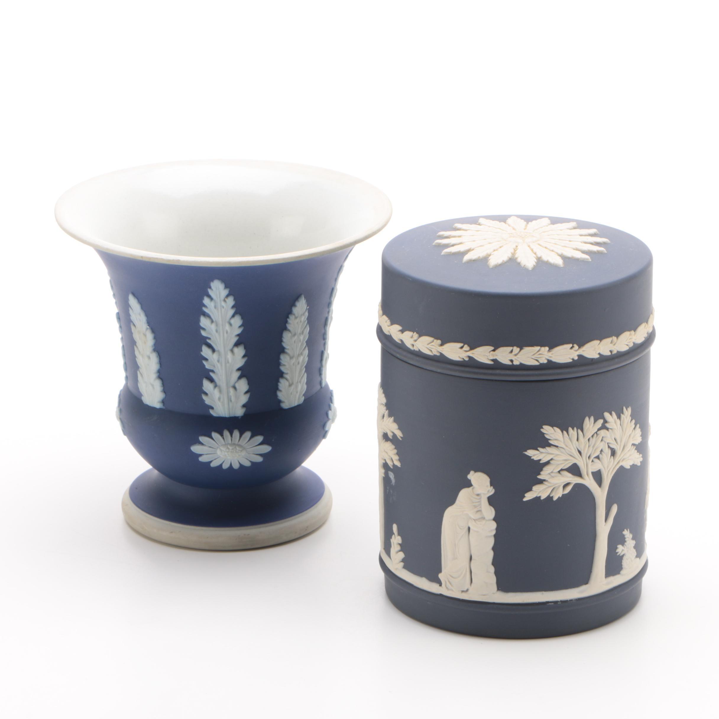 Wedgwood Jasperware Vase and Jar