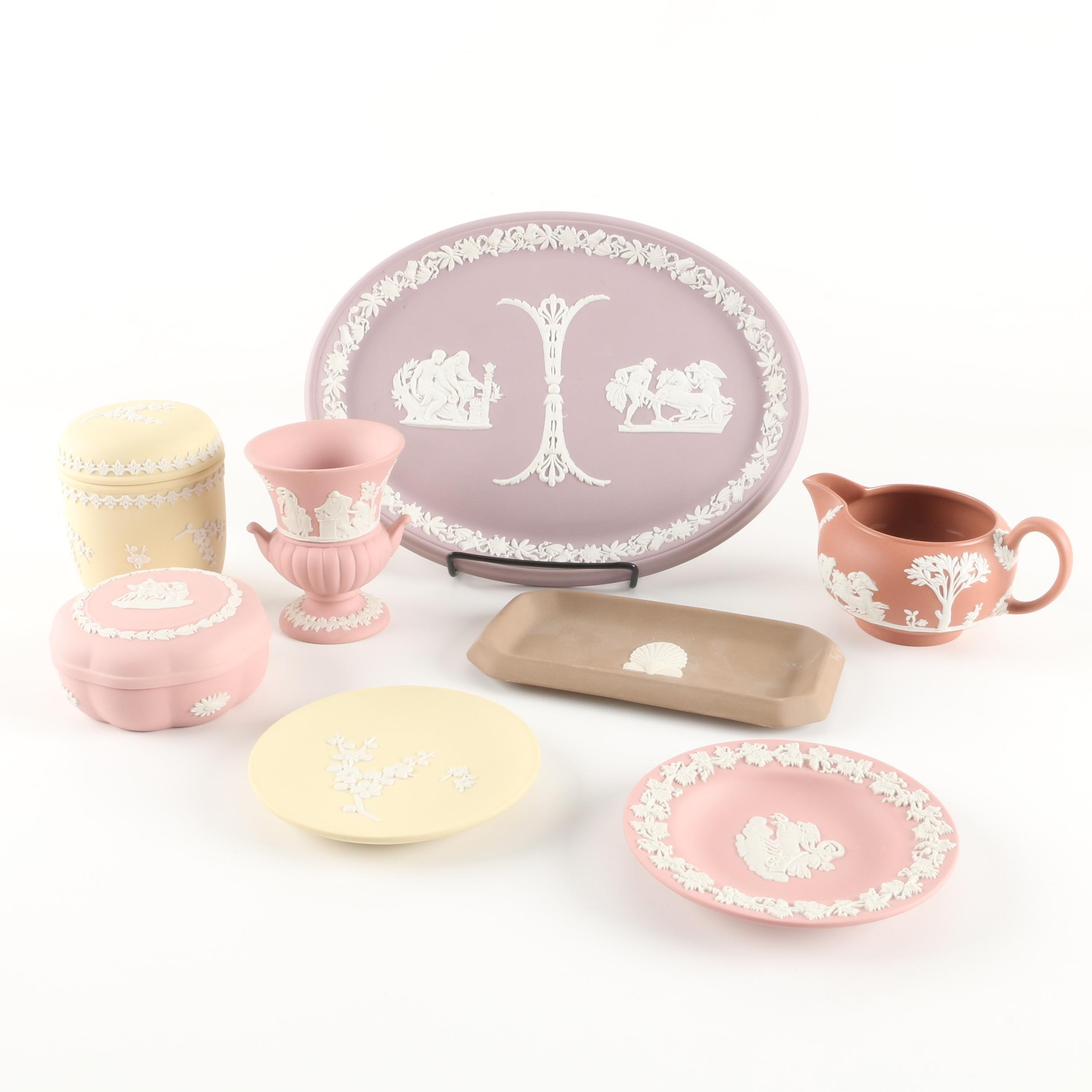 Wedgwood Jasperware Trinket Box and Other Décor