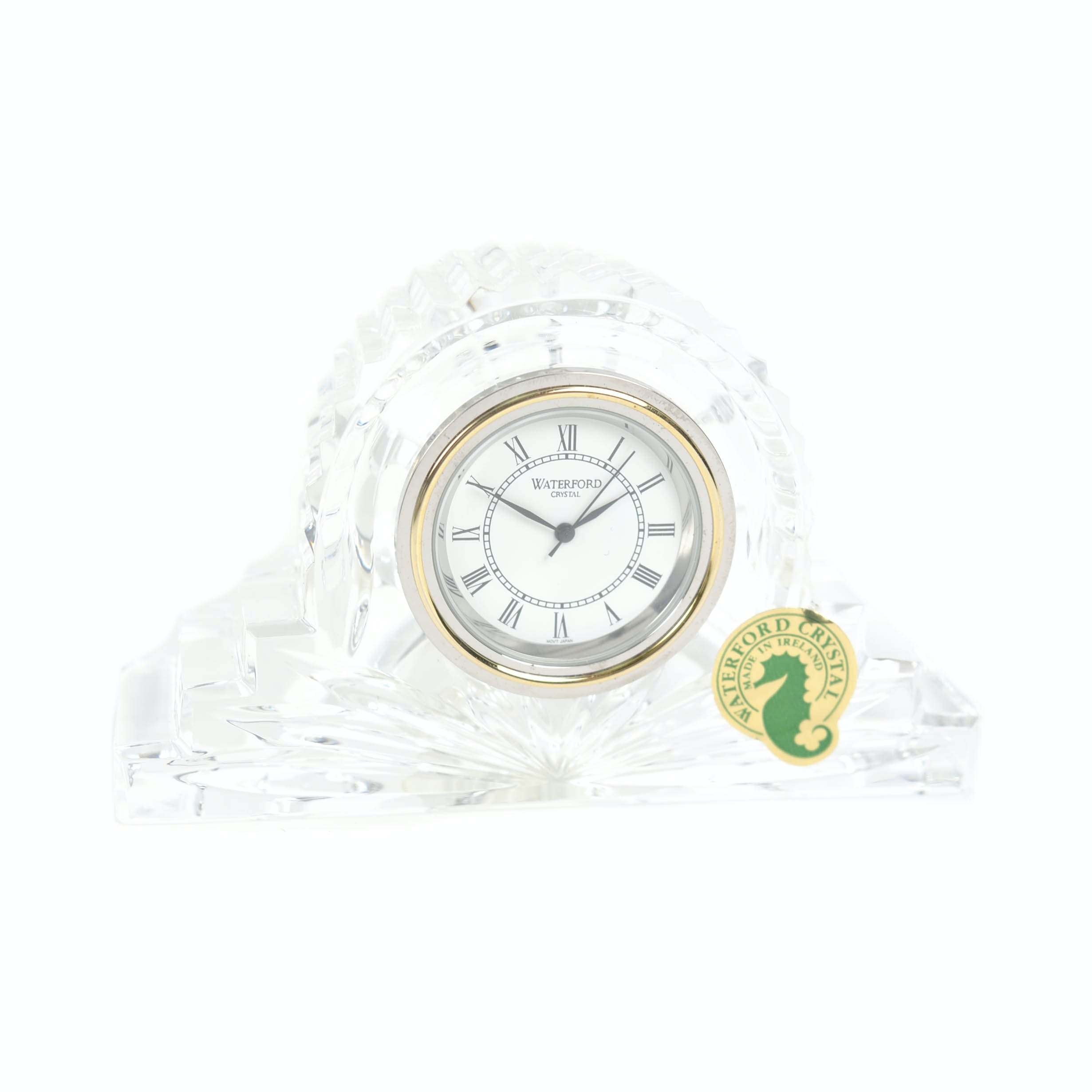 "Waterford ""Crystal Cottage"" Mantel Clock"