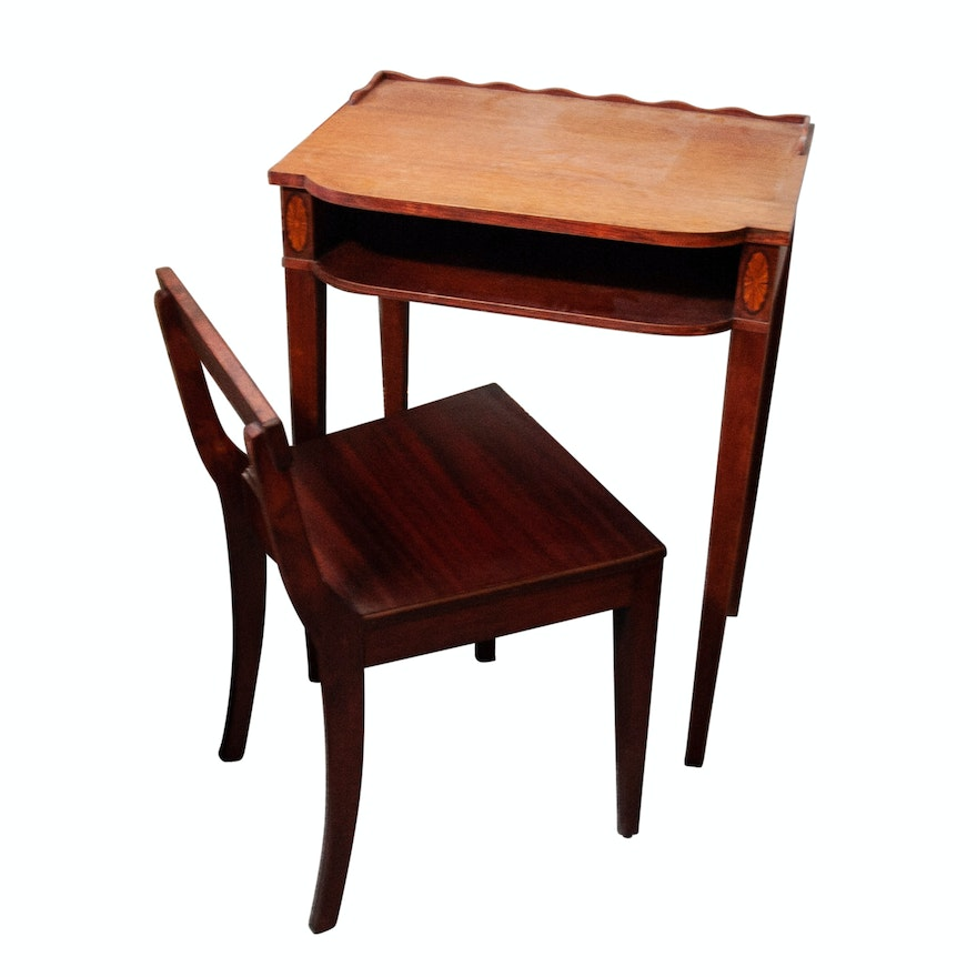 Vintage Writing Desk and Chair ... - Vintage Writing Desk And Chair : EBTH