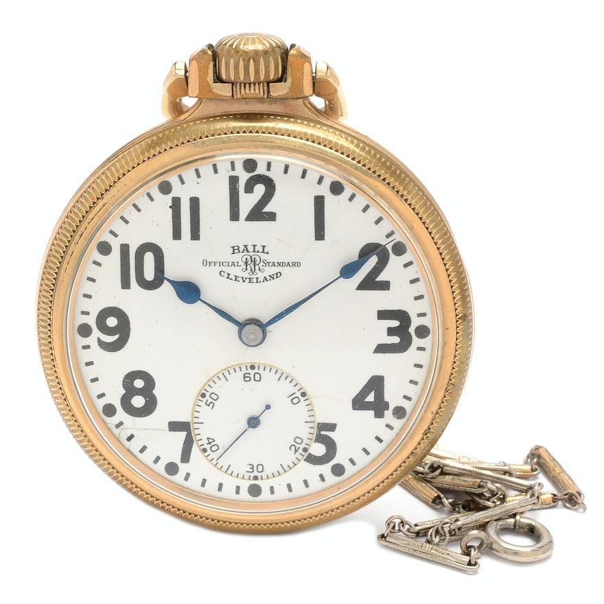 Ball Railroad Official Standard Pocket Watch Ebth