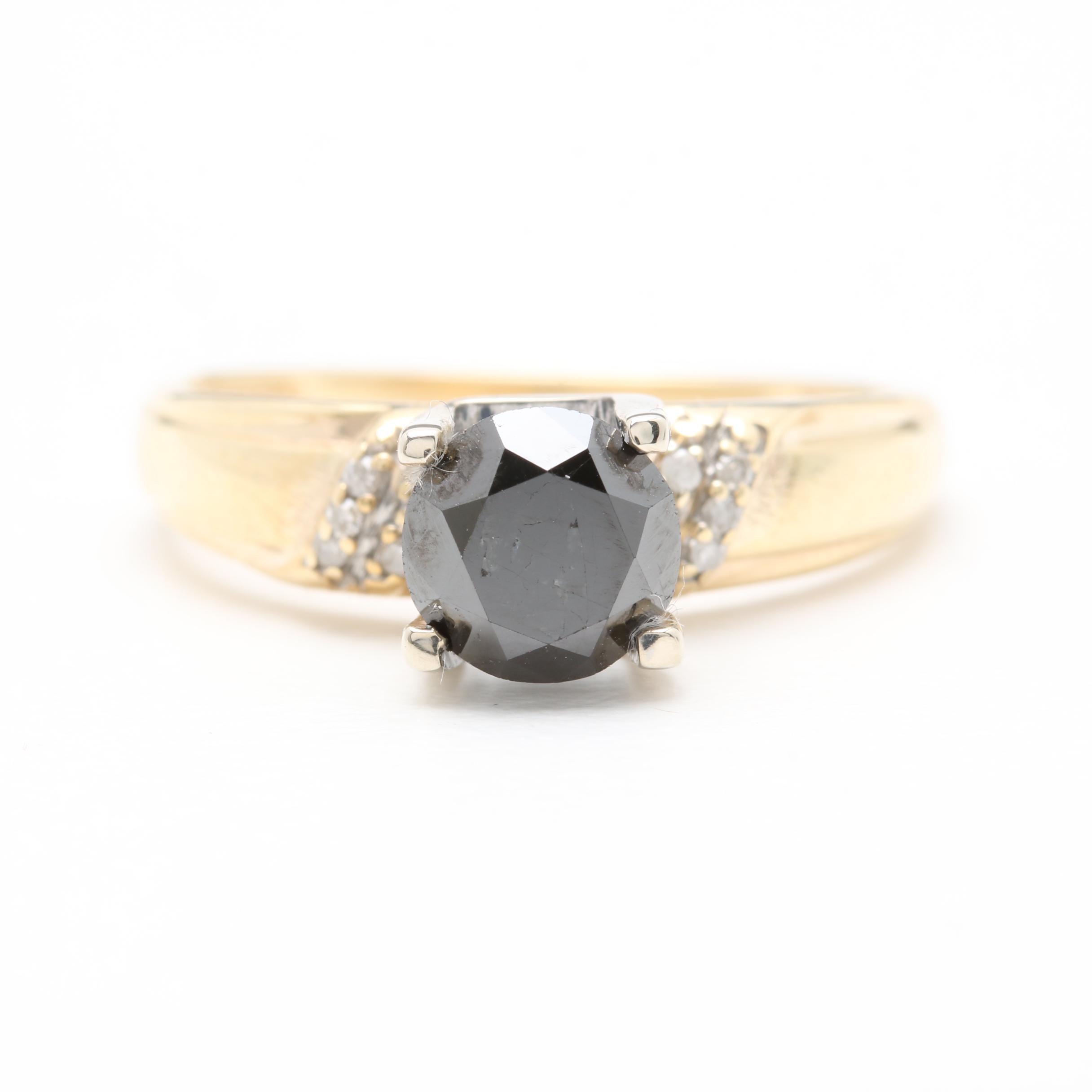 10K Yellow Gold 1.42 CTW Diamond Ring