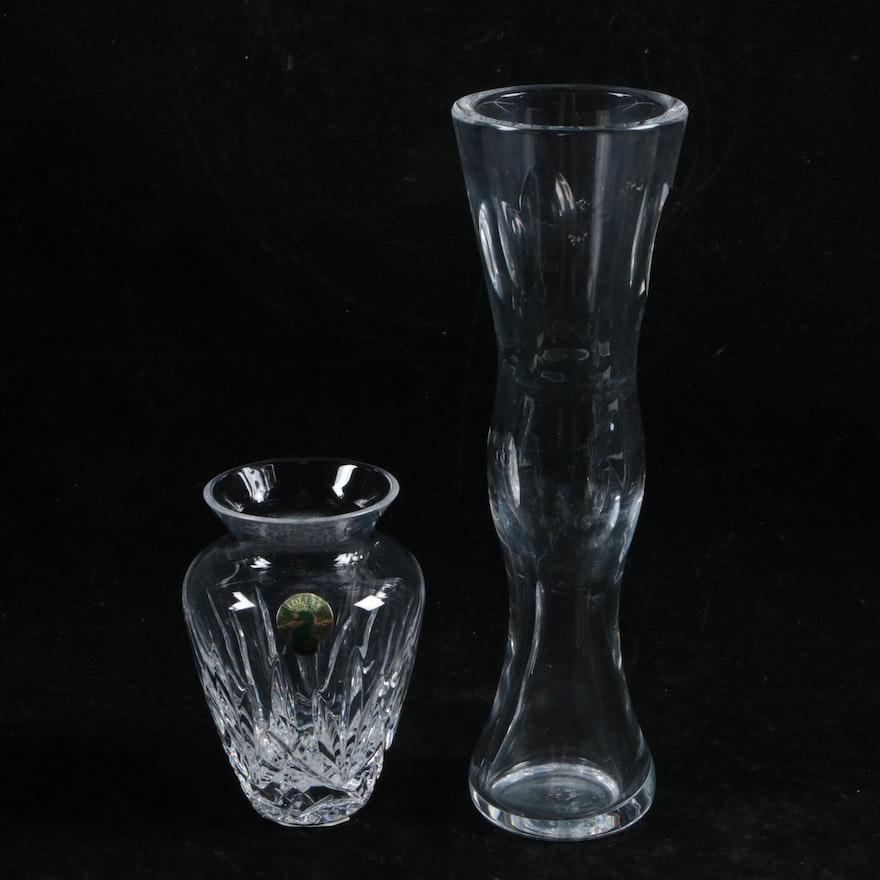 Waterford Crystal Violet And John Rocha Imprint Vases Ebth
