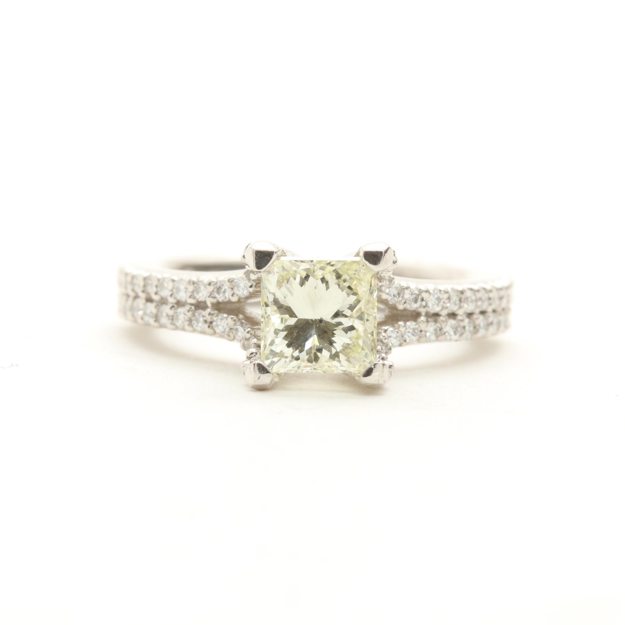 A. Jaffe Platinum 1.34 CTW Diamond Ring