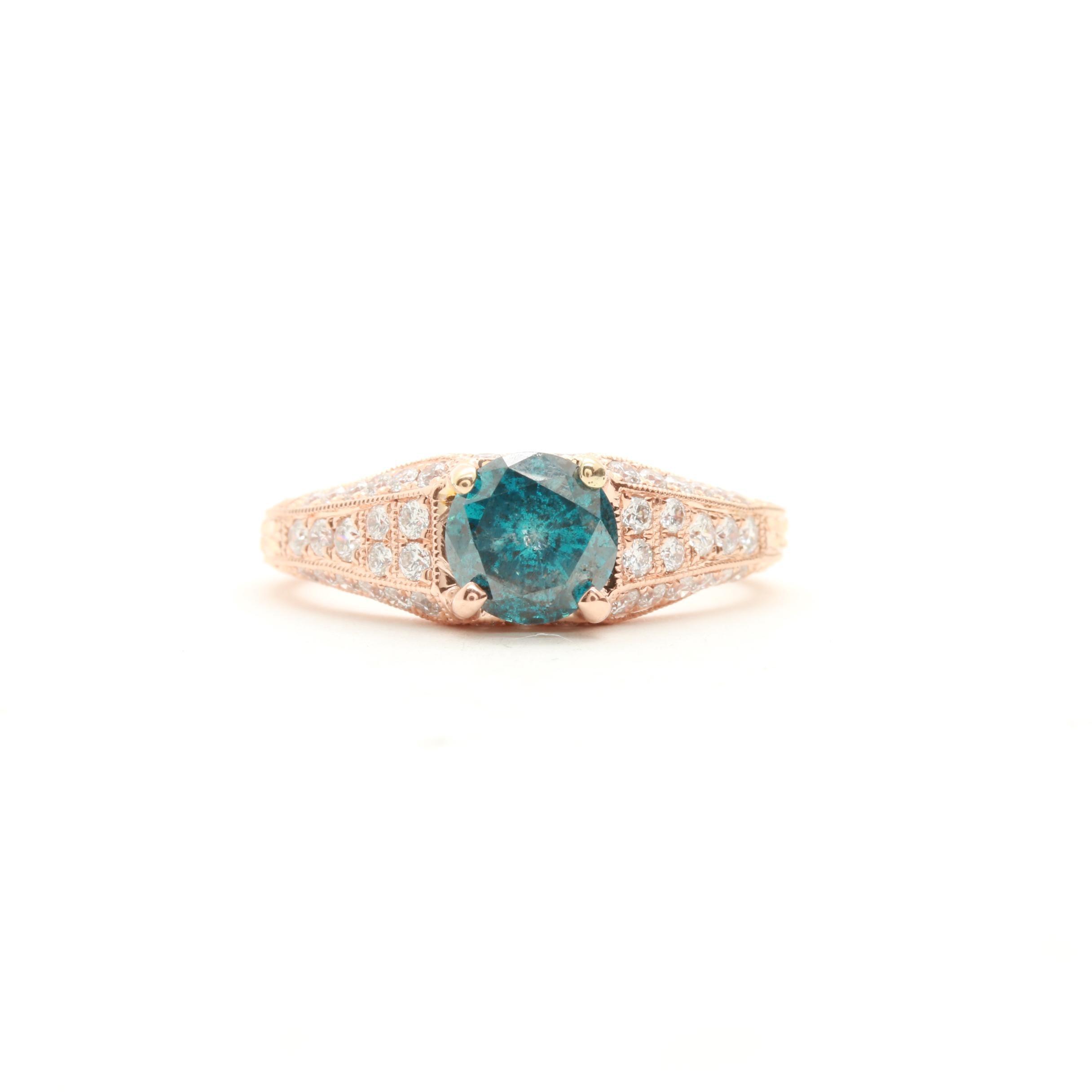 18K Rose Gold 1.45 CTW Diamond Ring