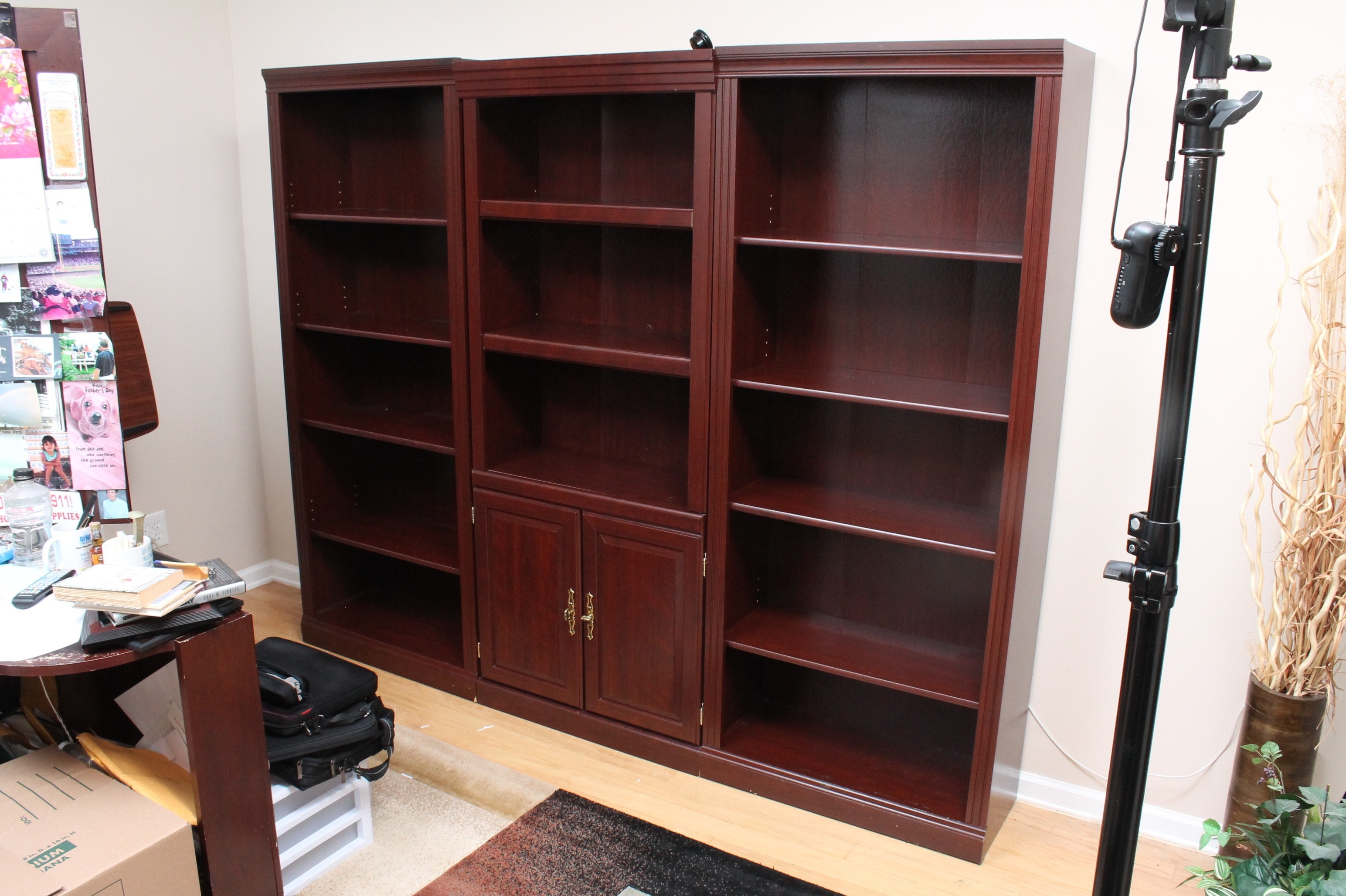 Five Engineered Wood Bookcases