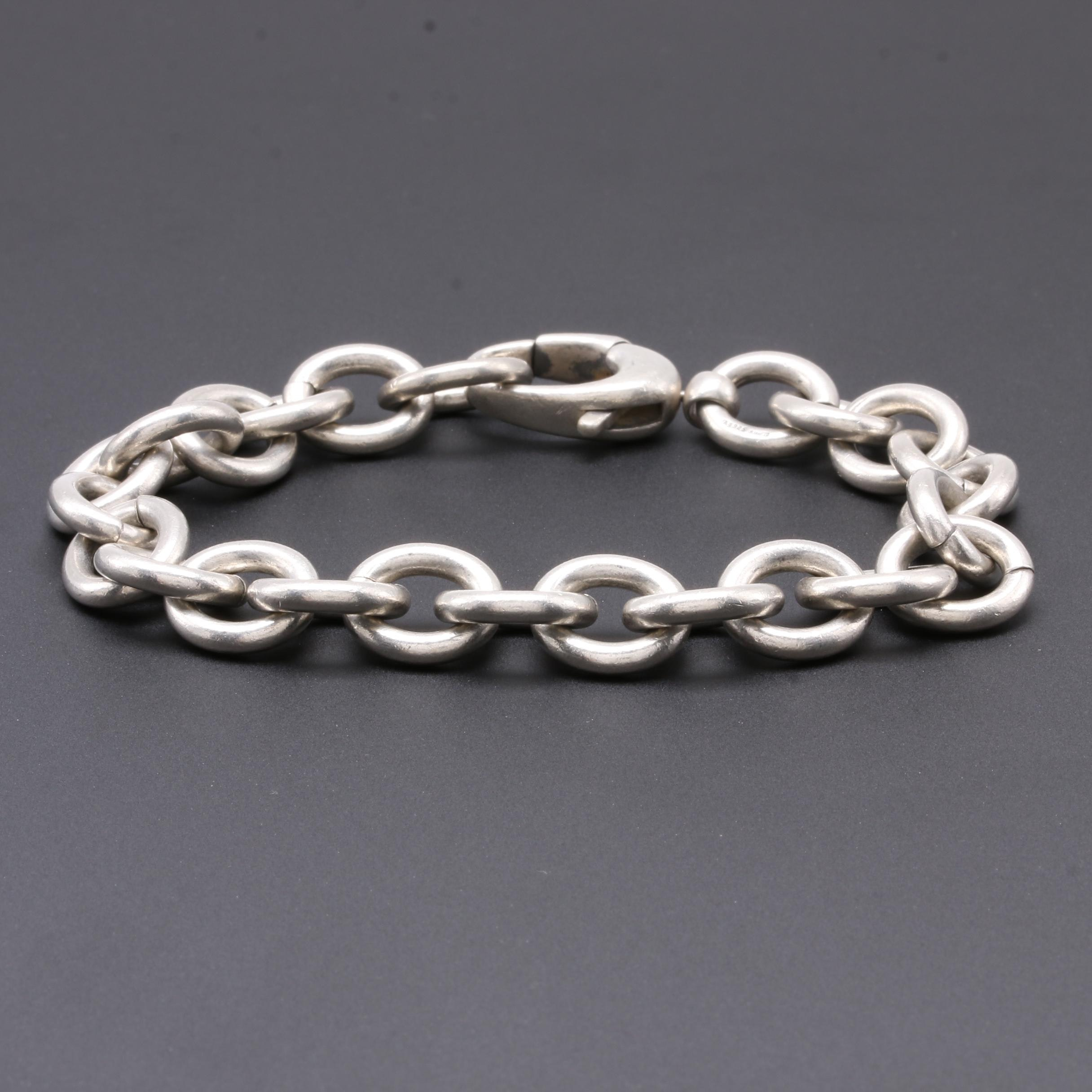 Gucci Sterling Silver Link Chain Bracelet