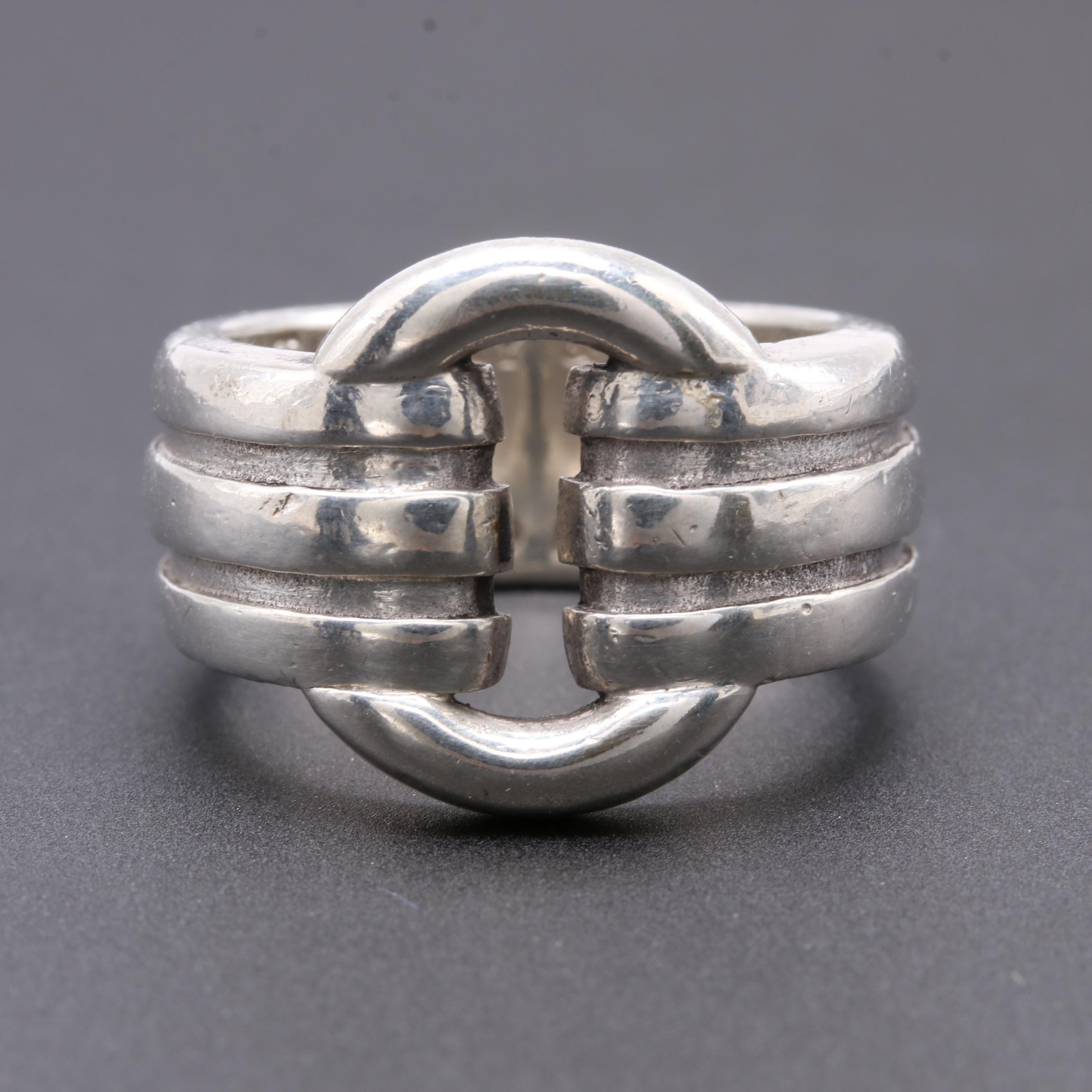 Tiffany & Co. Sterling Silver Ridged Ring