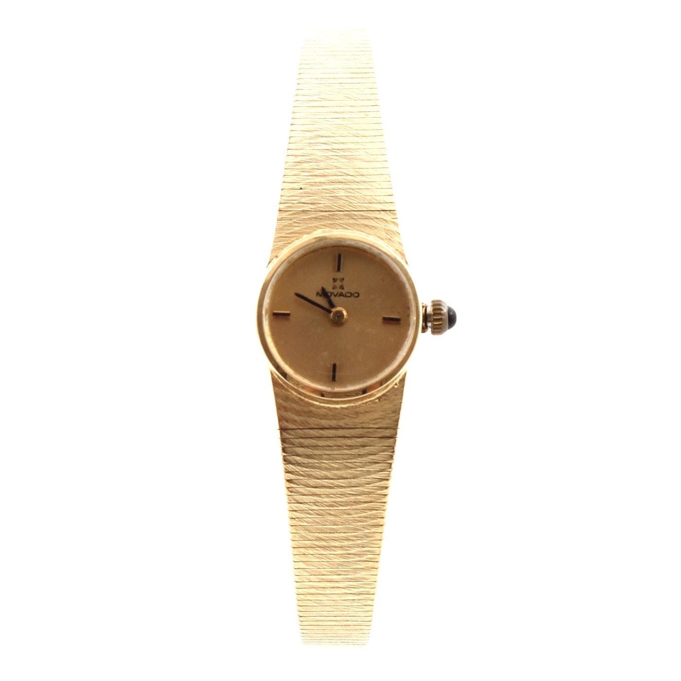 Movado 14K Yellow Gold Wristwatch
