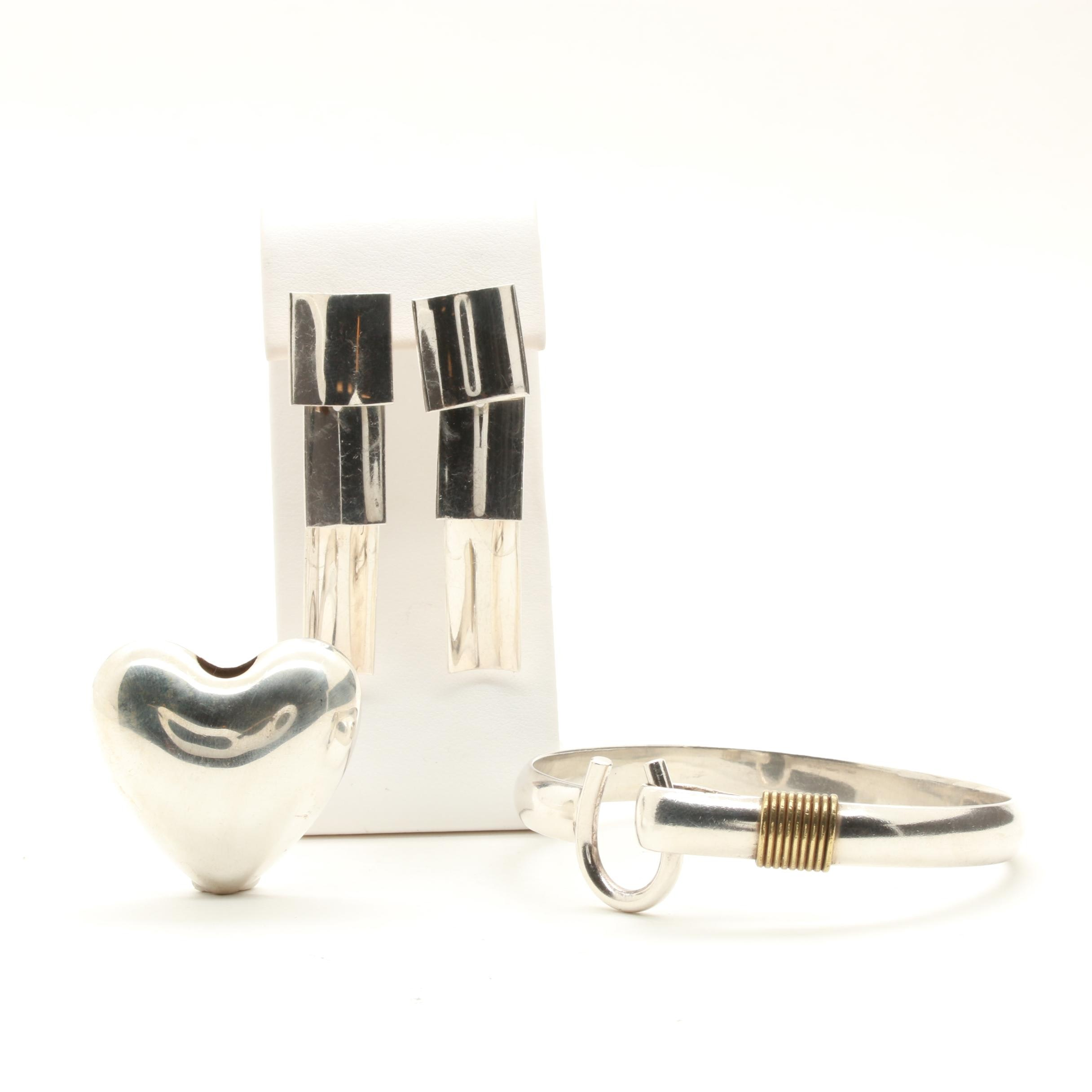 Sterling Silver Jewelry Selection Including Reed & Barton and D.K. Sterling