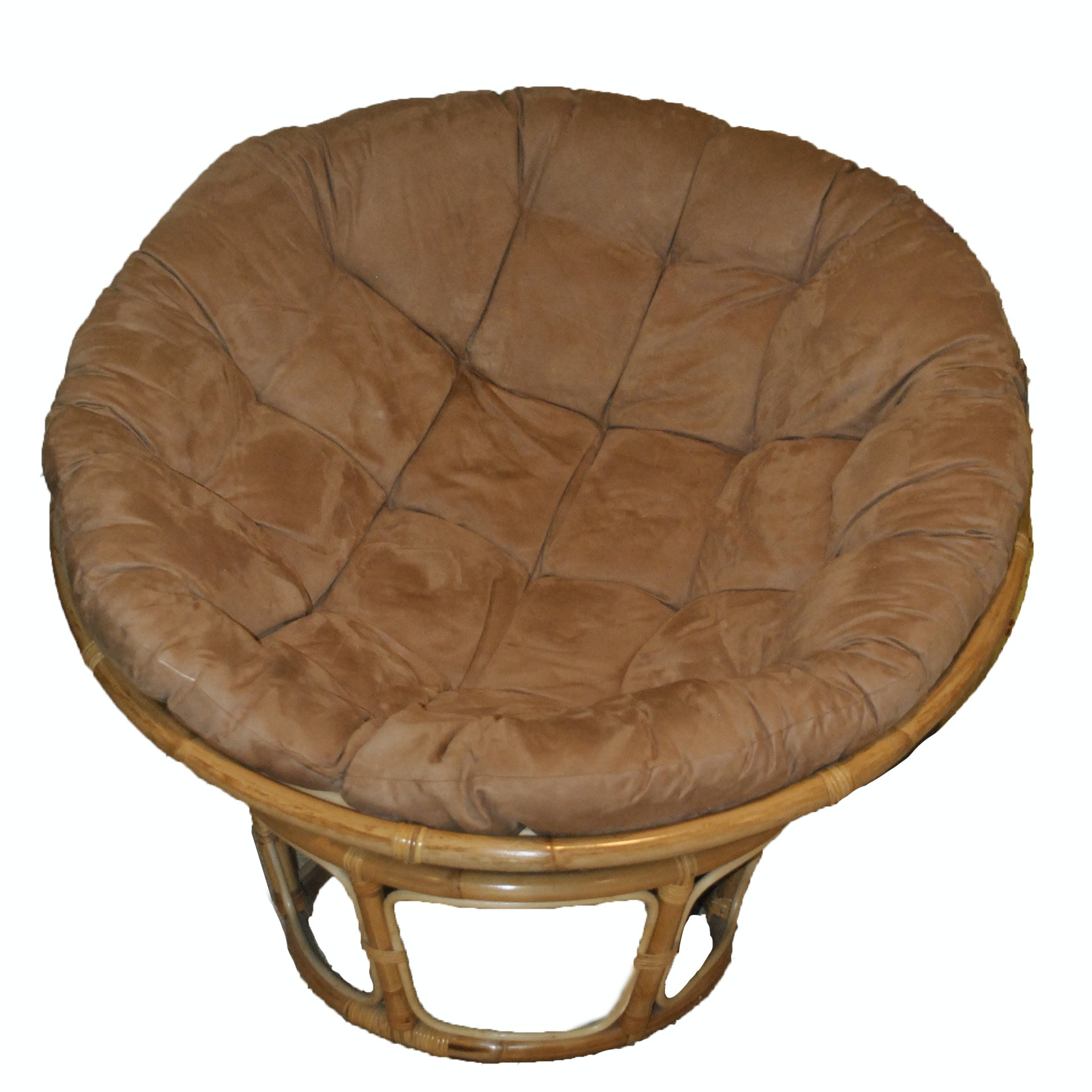 Blonde Papasan and Base with Tan Cushion