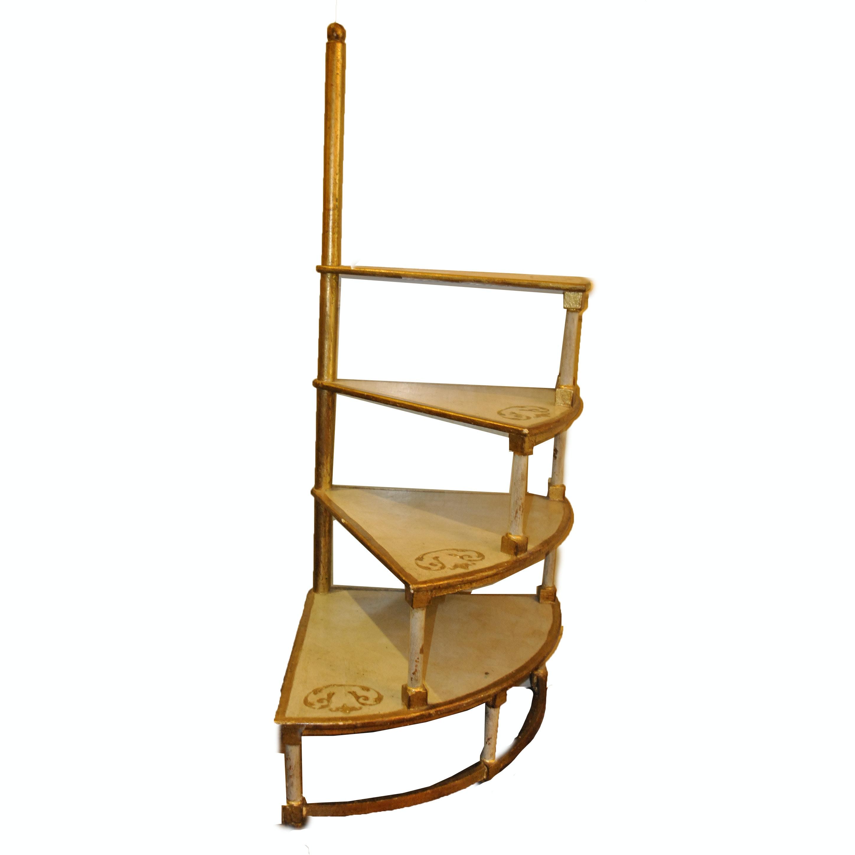 Florentine Style Spiral Step Shelving Unit