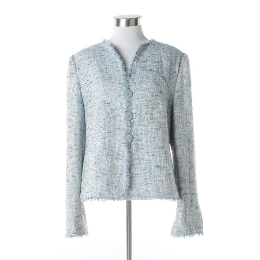d6505ec4f01b Women's Armani Collezioni Powder Blue Tweed Jacket : EBTH