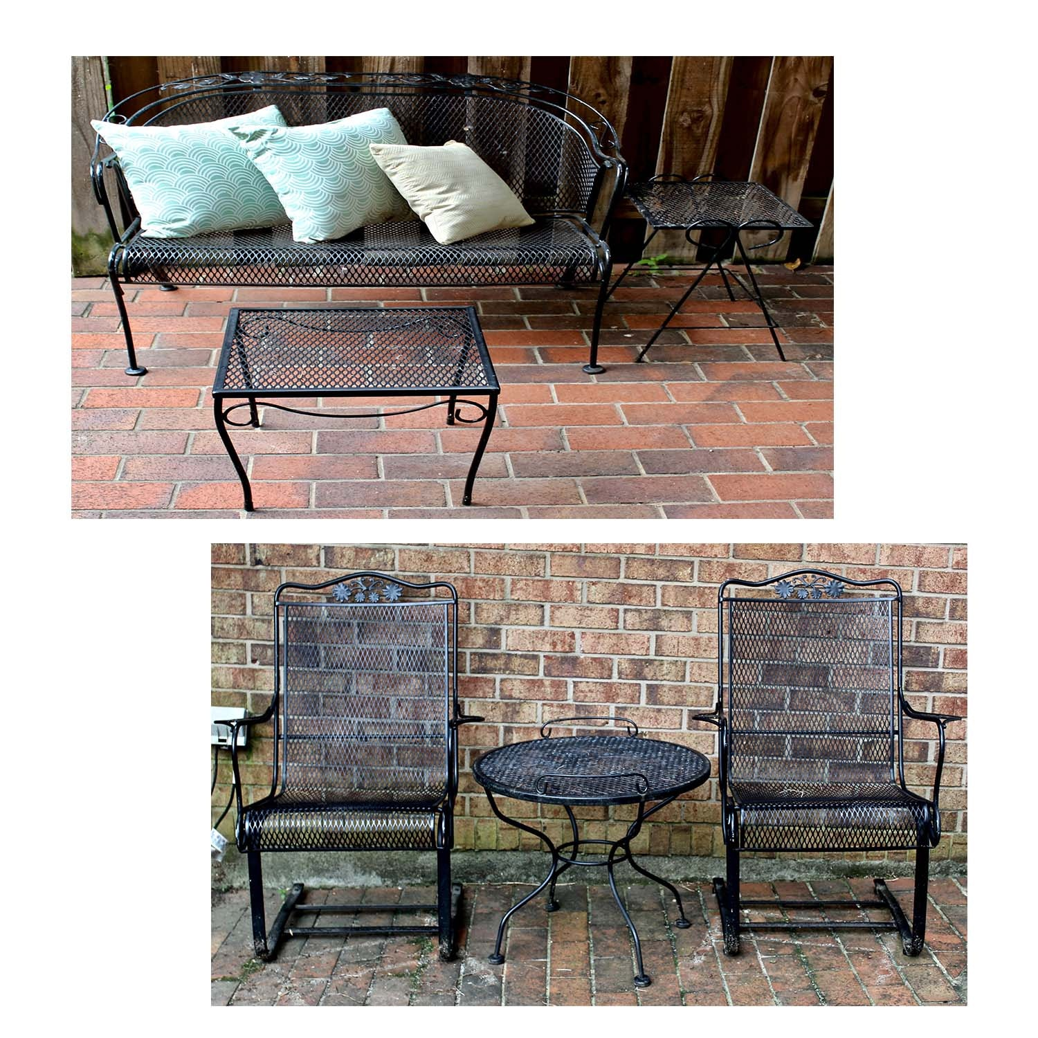 Wrought Iron Patio Bistro Table and Chairs