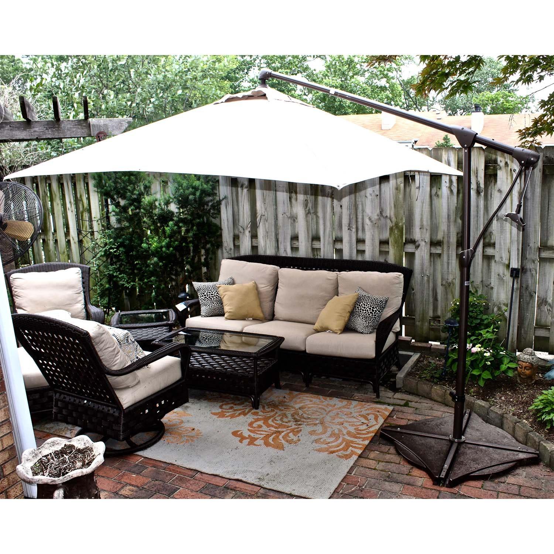 Sunbrella Outdoor Retractable Patio Umbrella