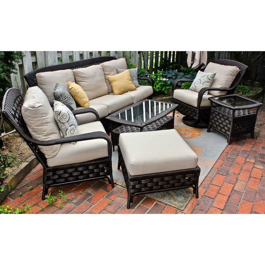 Sunbrella Outdoor All Weather Wicker Patio Furniture Set