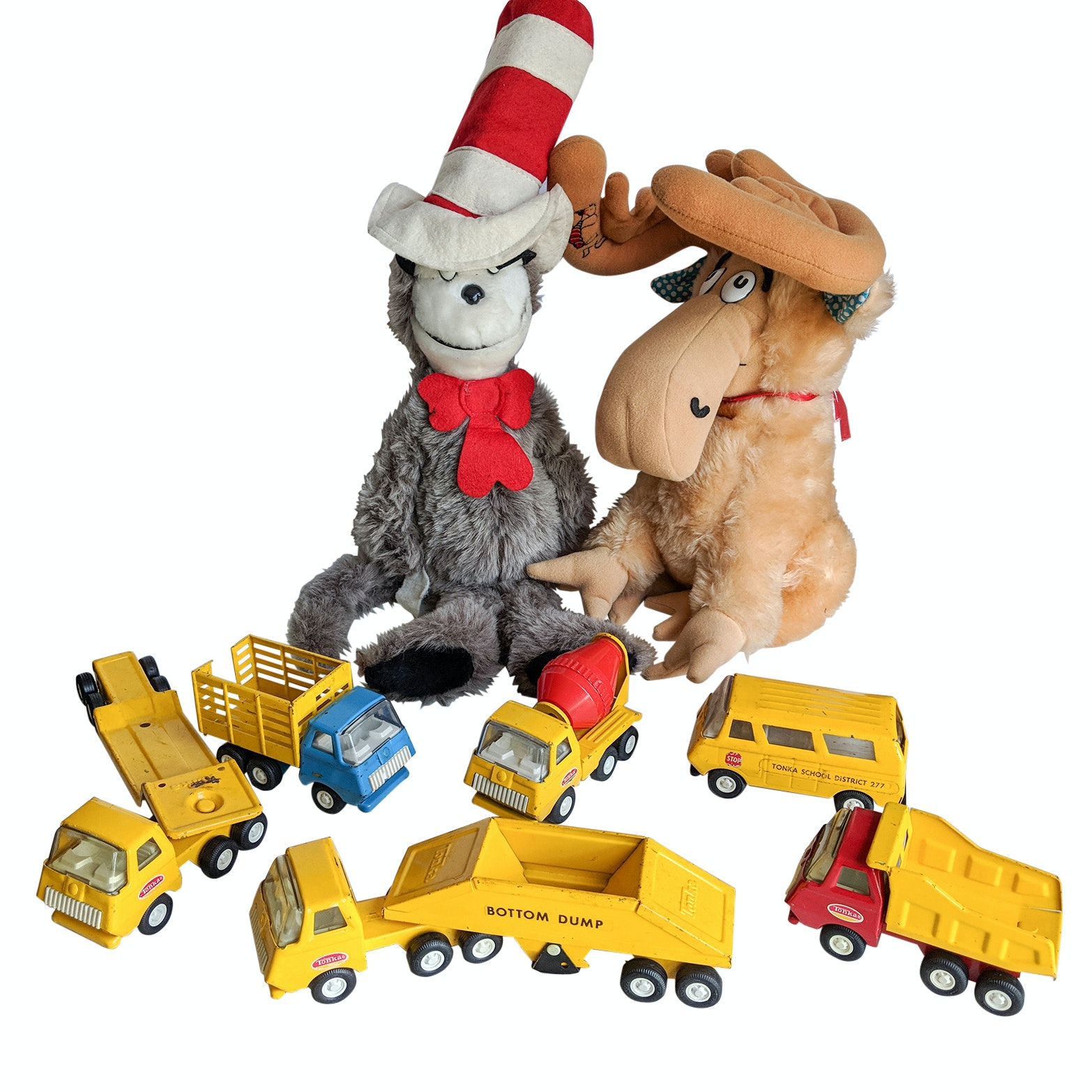 1980s Tonka Trucks And Stuffed Dr Seuss The Cat In The Hat And