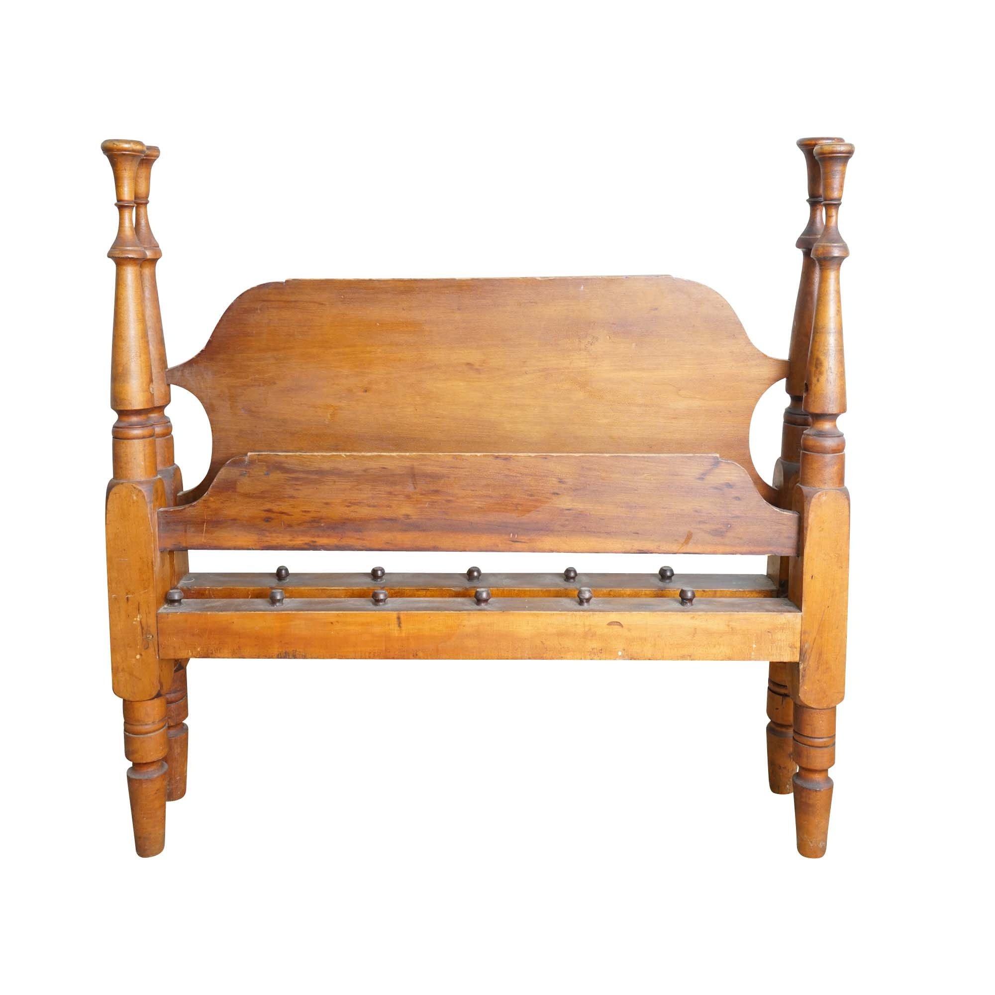 Antique Twin Size Rope Bed Frames