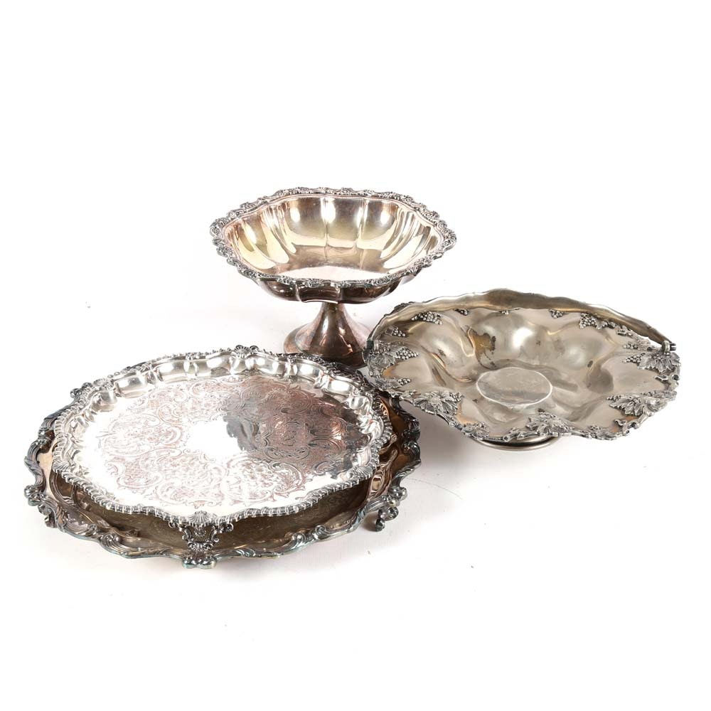 Antique Silver Plated Trays and Compotes ...  sc 1 st  EBTH.com & Antique Silver Plated Trays and Compotes : EBTH