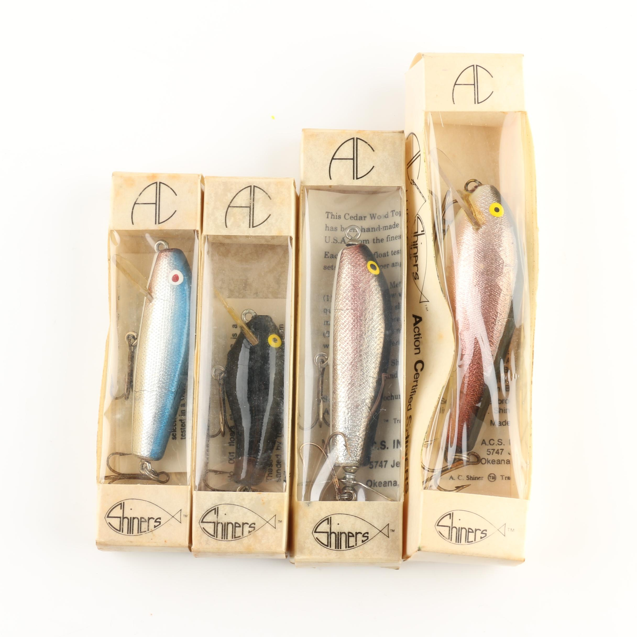 Group of Four A.C. Shiners Fishing Lures
