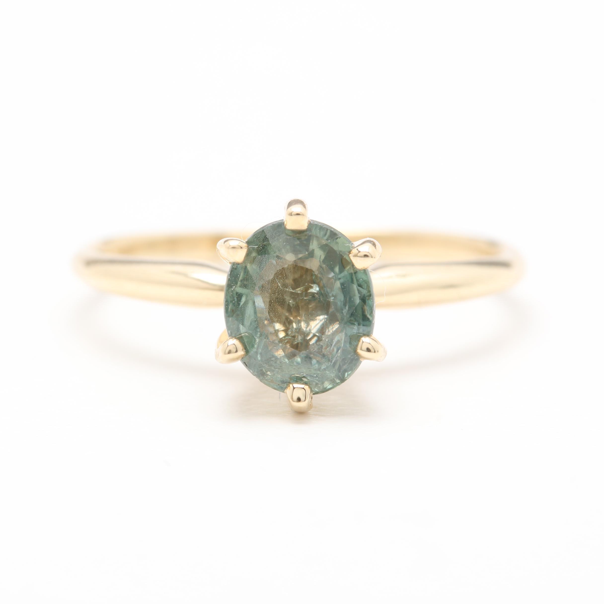 14K Yellow Gold 1.04 CT Sapphire Ring