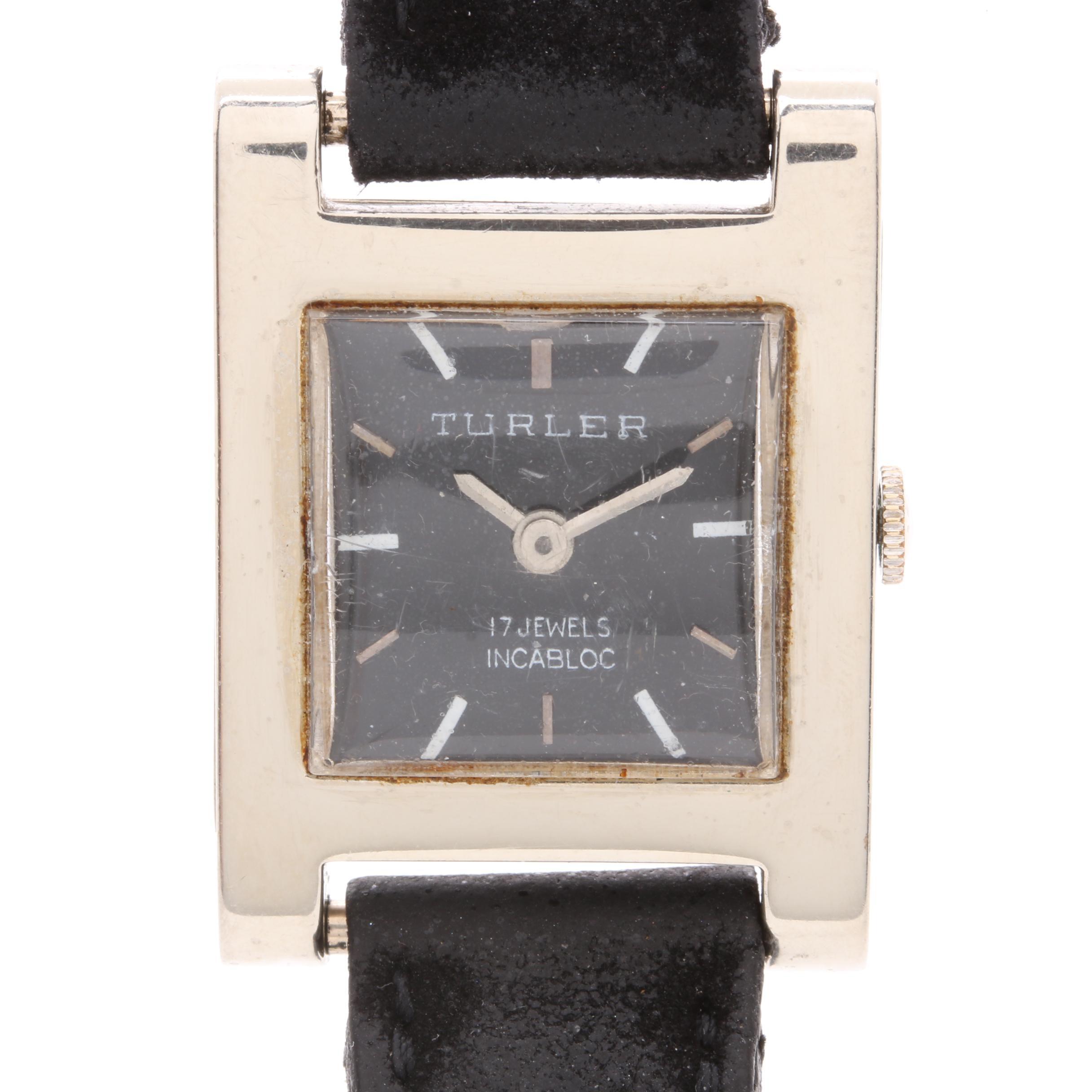 18K White Gold Turler Wristwatch