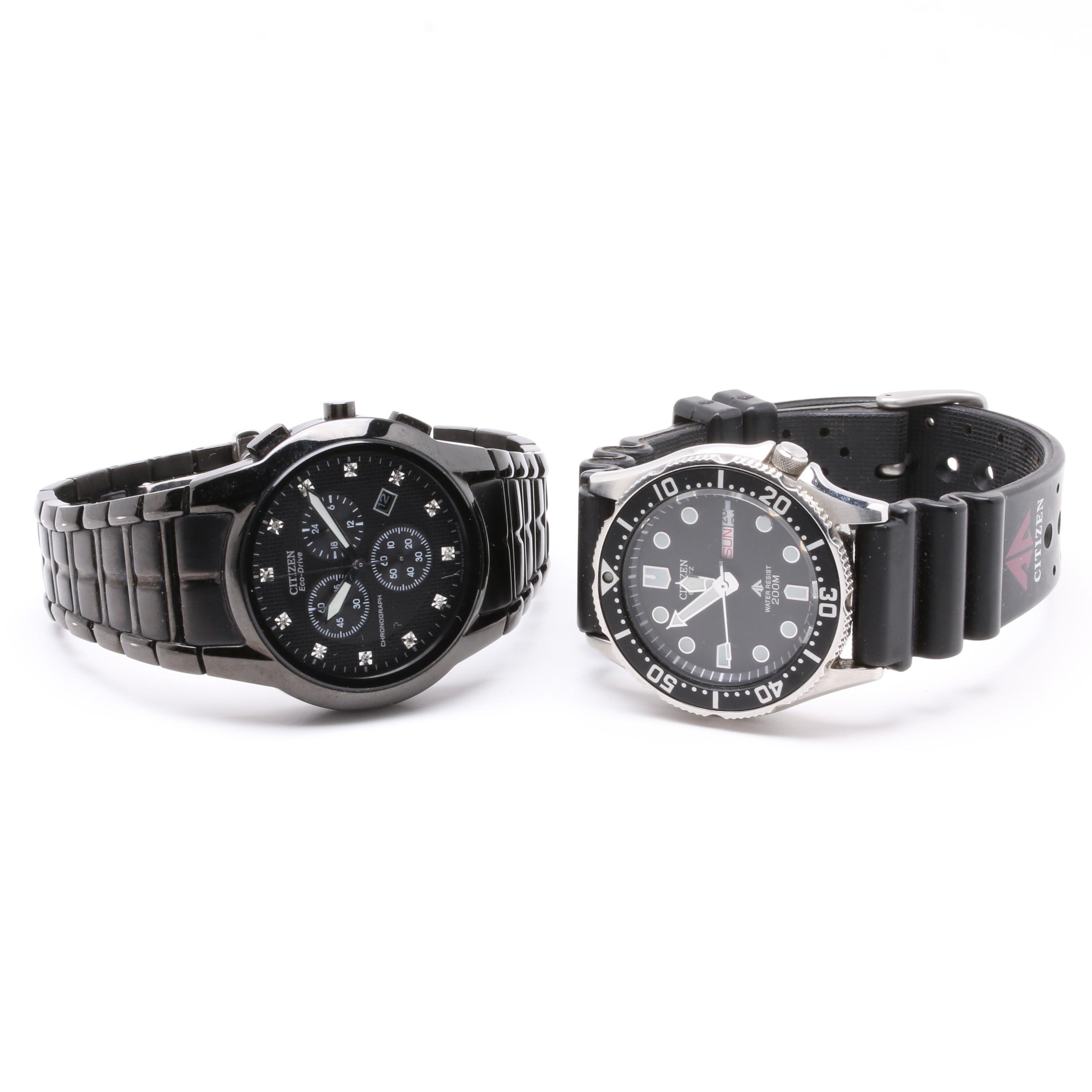Citizen Promaster and Chronograph Wristwatches