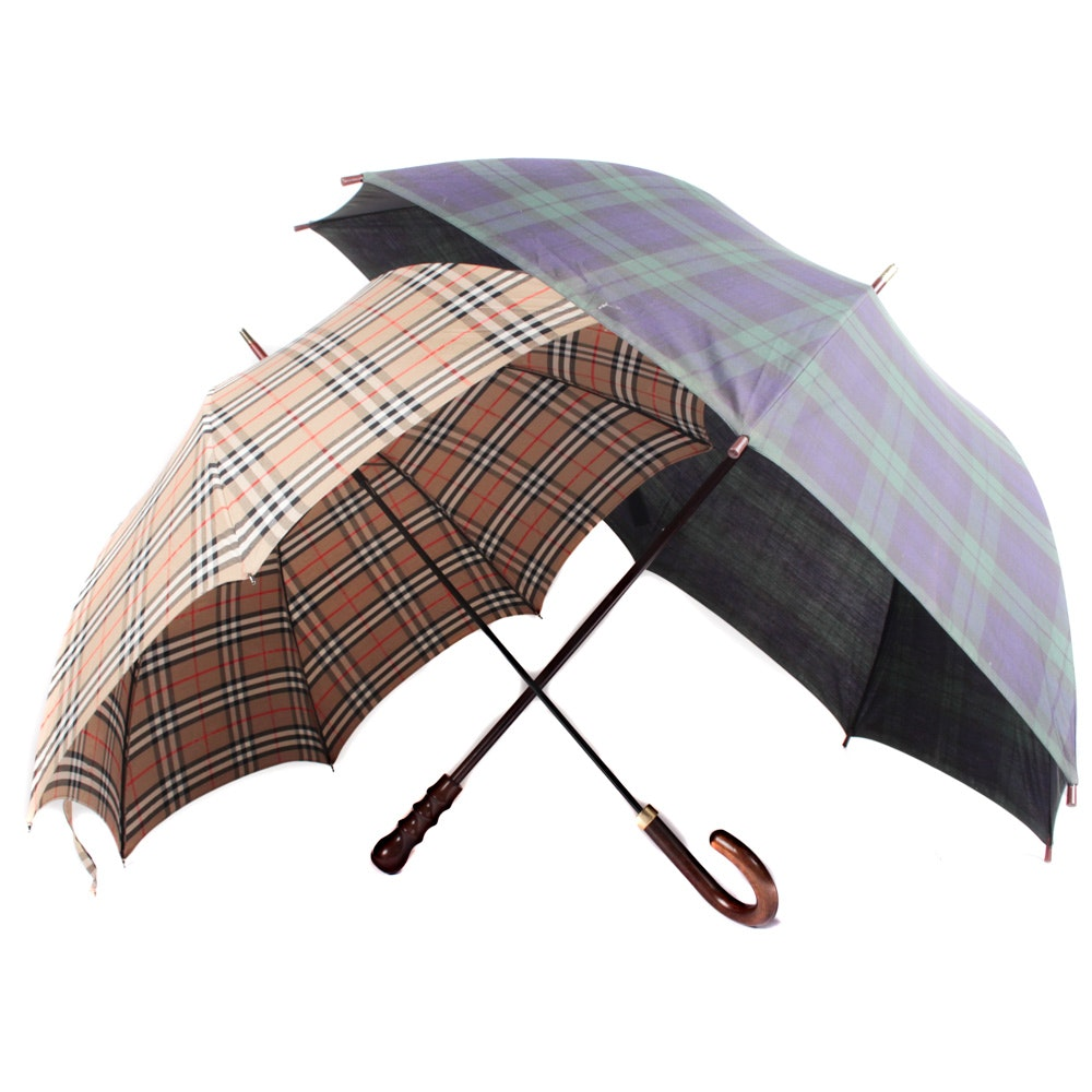 Ralph Lauren and Vintage Burberrys of London Umbrellas