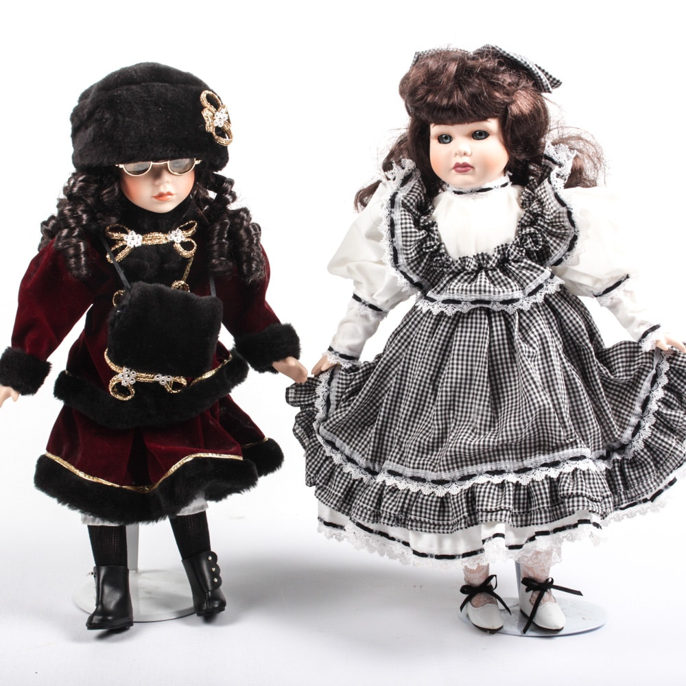 Seymour Mann and Leonardo Porcelain Dolls
