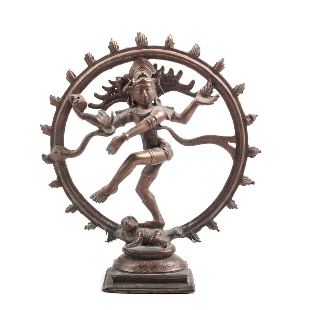Cast Metal Sculpture of Shiva Nataraja