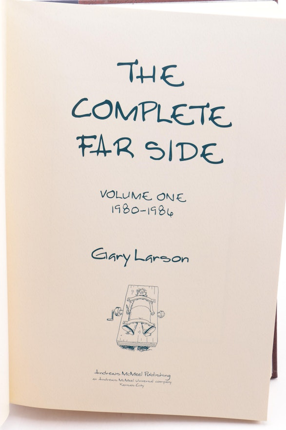 "Andrews Auto Sales >> ""The Complete Far Side"" by Gary Larson, 2005, Two-Volume ..."