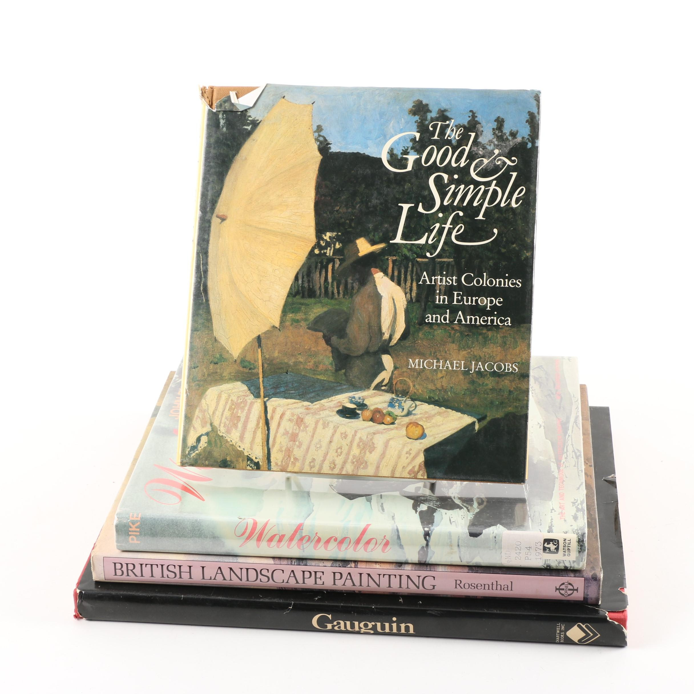 "Four Art Books Including ""Gauguin"", ""British Landscape Painting"""