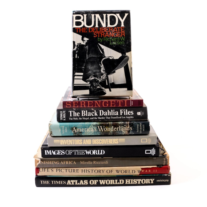 Books Including History, Travel and True Crime