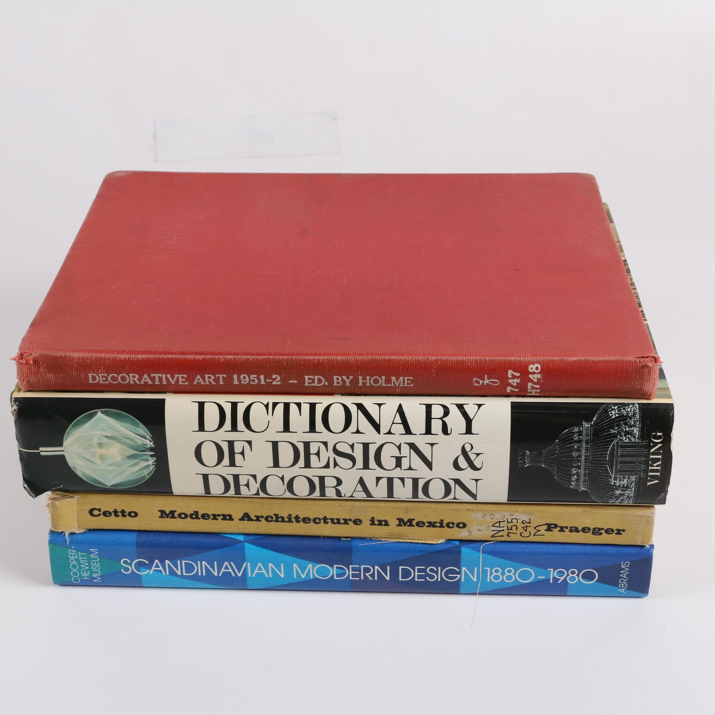 """Four Design Art Books Including """"Dictionary of Design & Decoration"""""""
