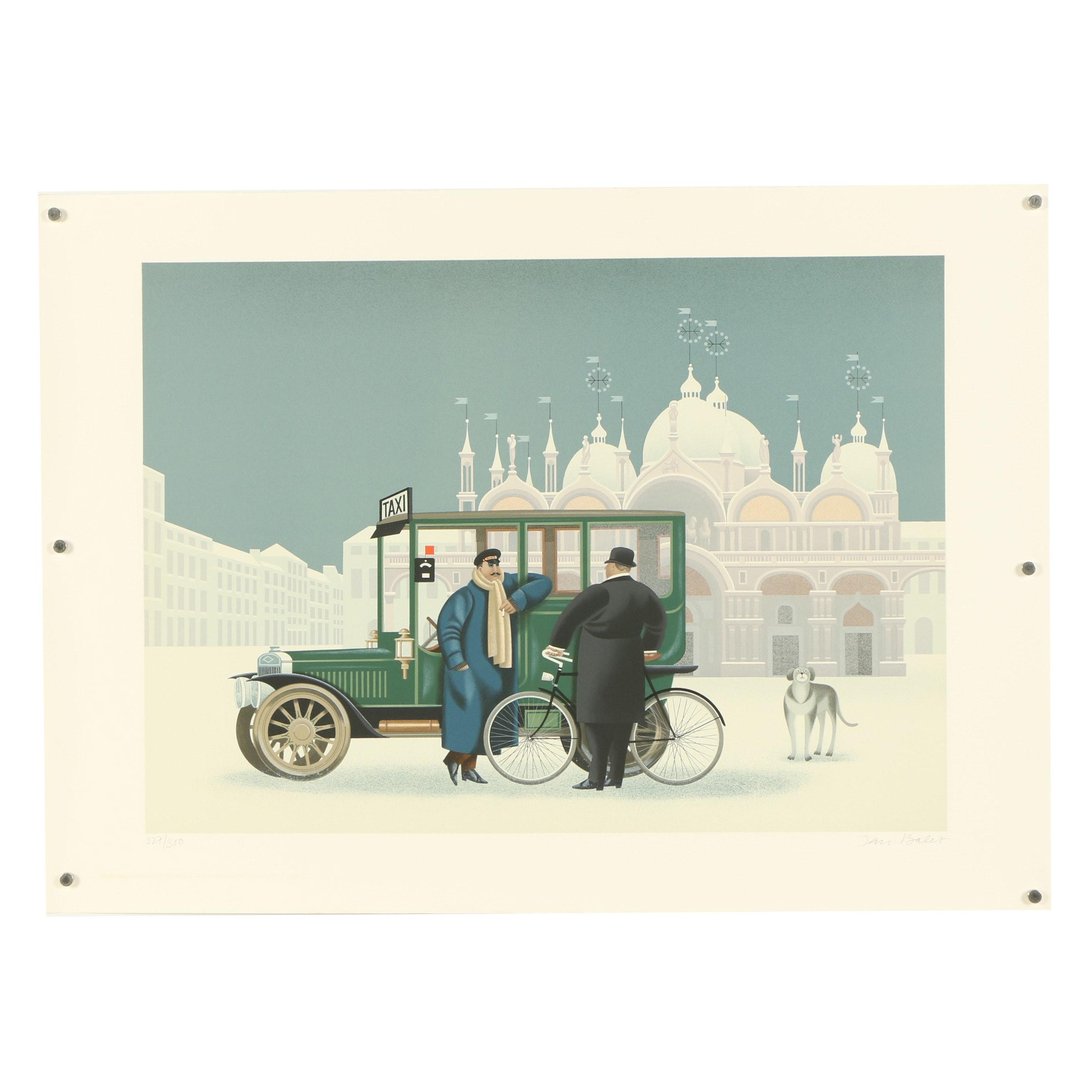 "Jan Balet Lithograph ""Winter in Venice"""
