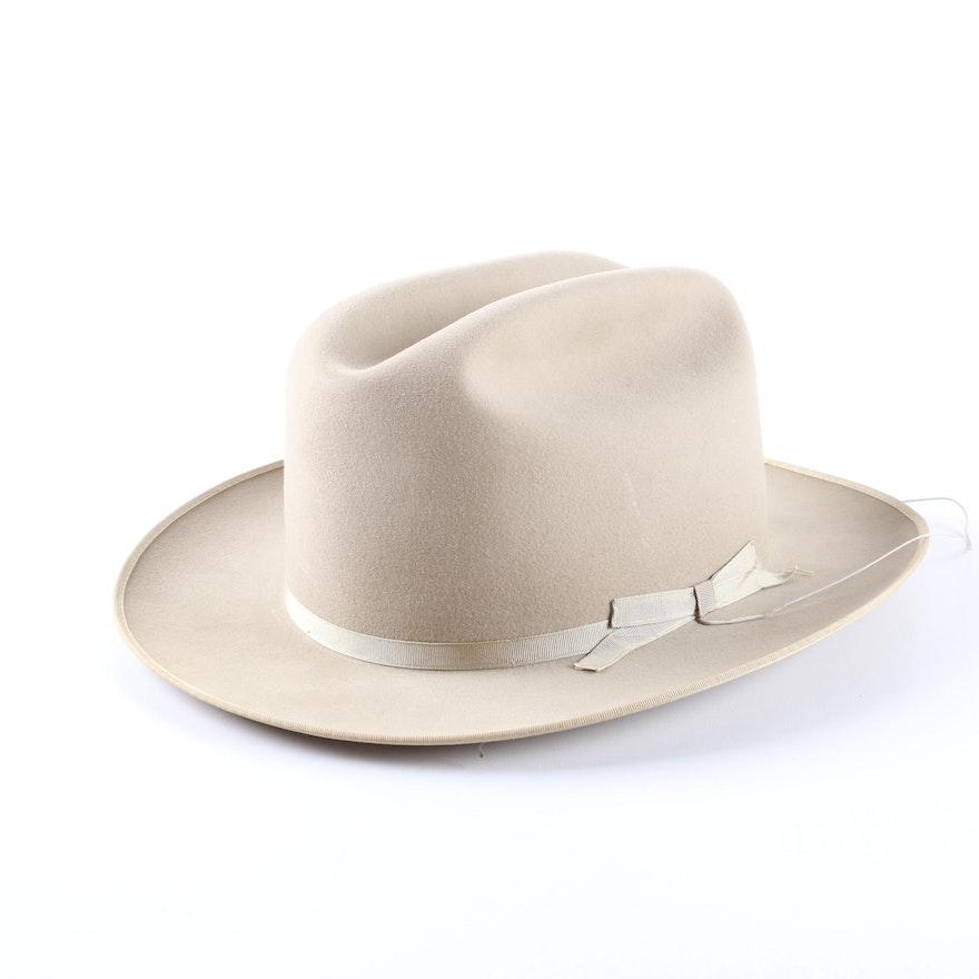1b342c948fcc2 Vintage Royal Stetson Beige Felt Western Hat   EBTH
