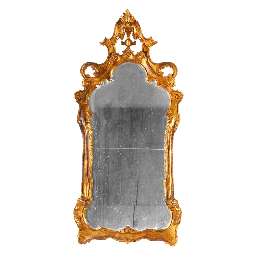 Italian Rococo Style Gilt Wall Mirror