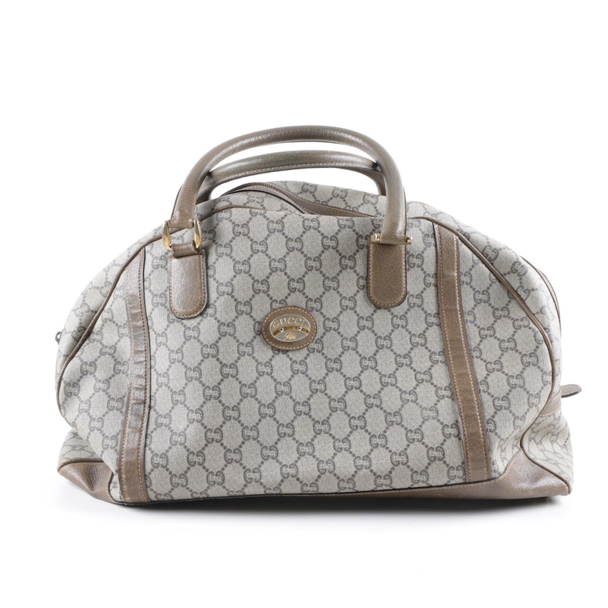 4db72ba92cc Vintage Gucci Plus GG Supreme Canvas Duffel Bag   EBTH