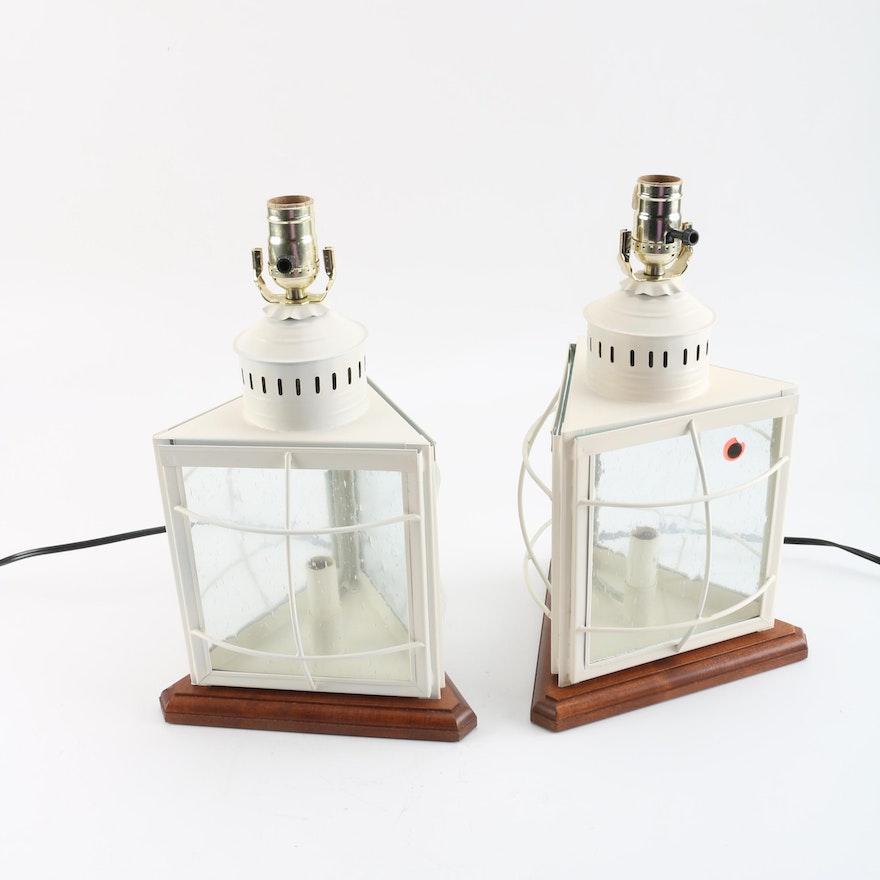 L L Bean Lantern Style Table Lamps Ebth