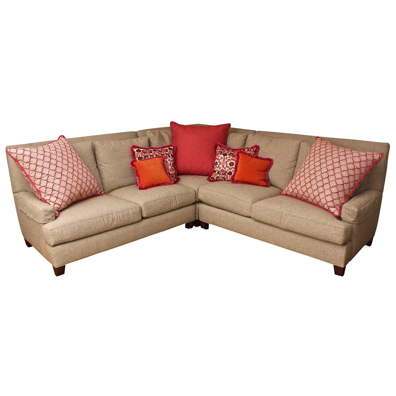 Lee Industries Sectional Sofa and Pillows