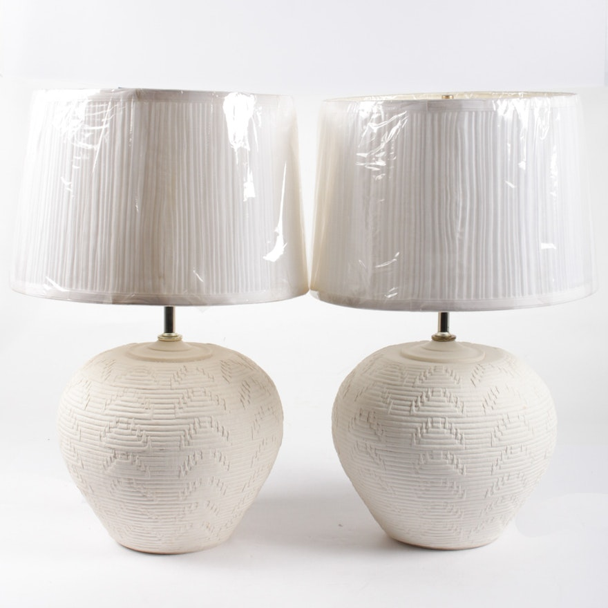 Alsy southwestern style pottery table lamps ebth alsy southwestern style pottery table lamps aloadofball Image collections