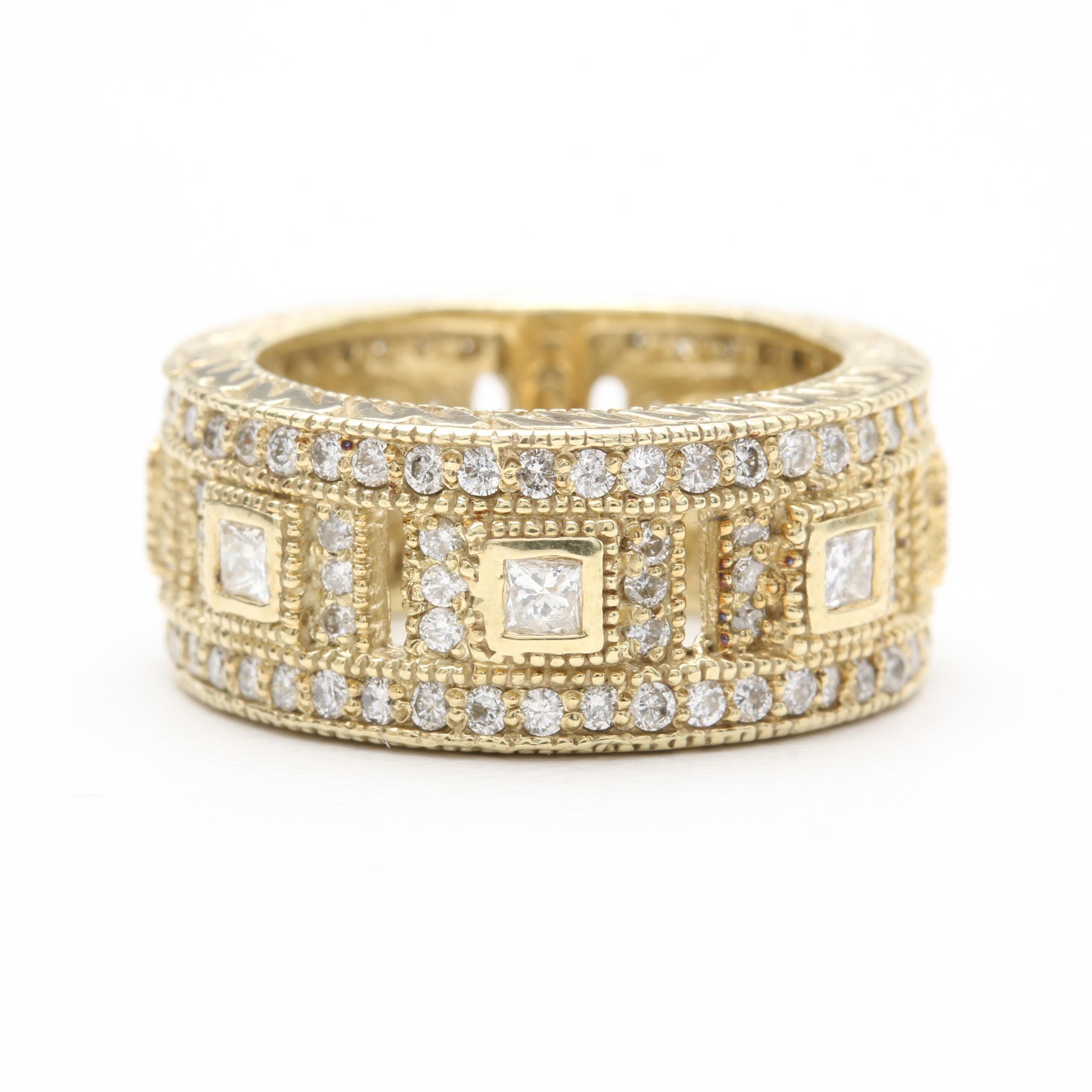 14K Yellow Gold 1.73 CTW Diamond Ring
